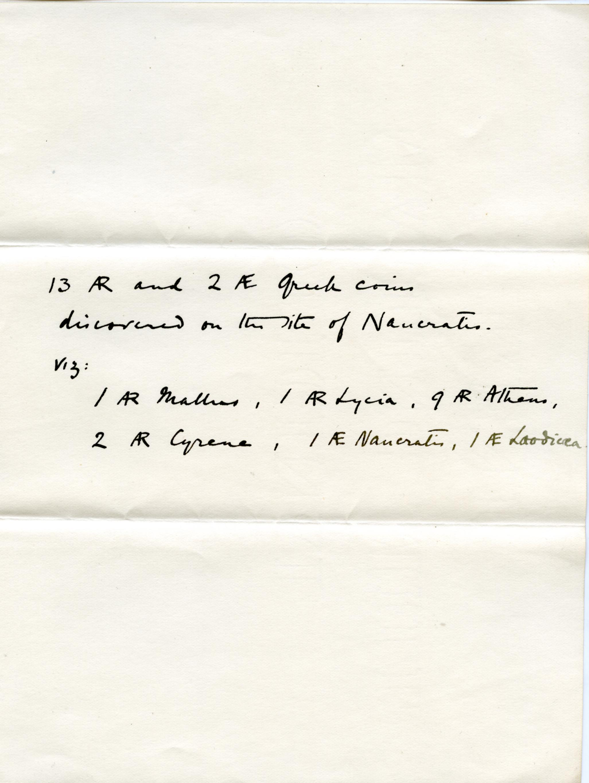 1885-1886 Naukratis Receipt from institution DIST.05.01b