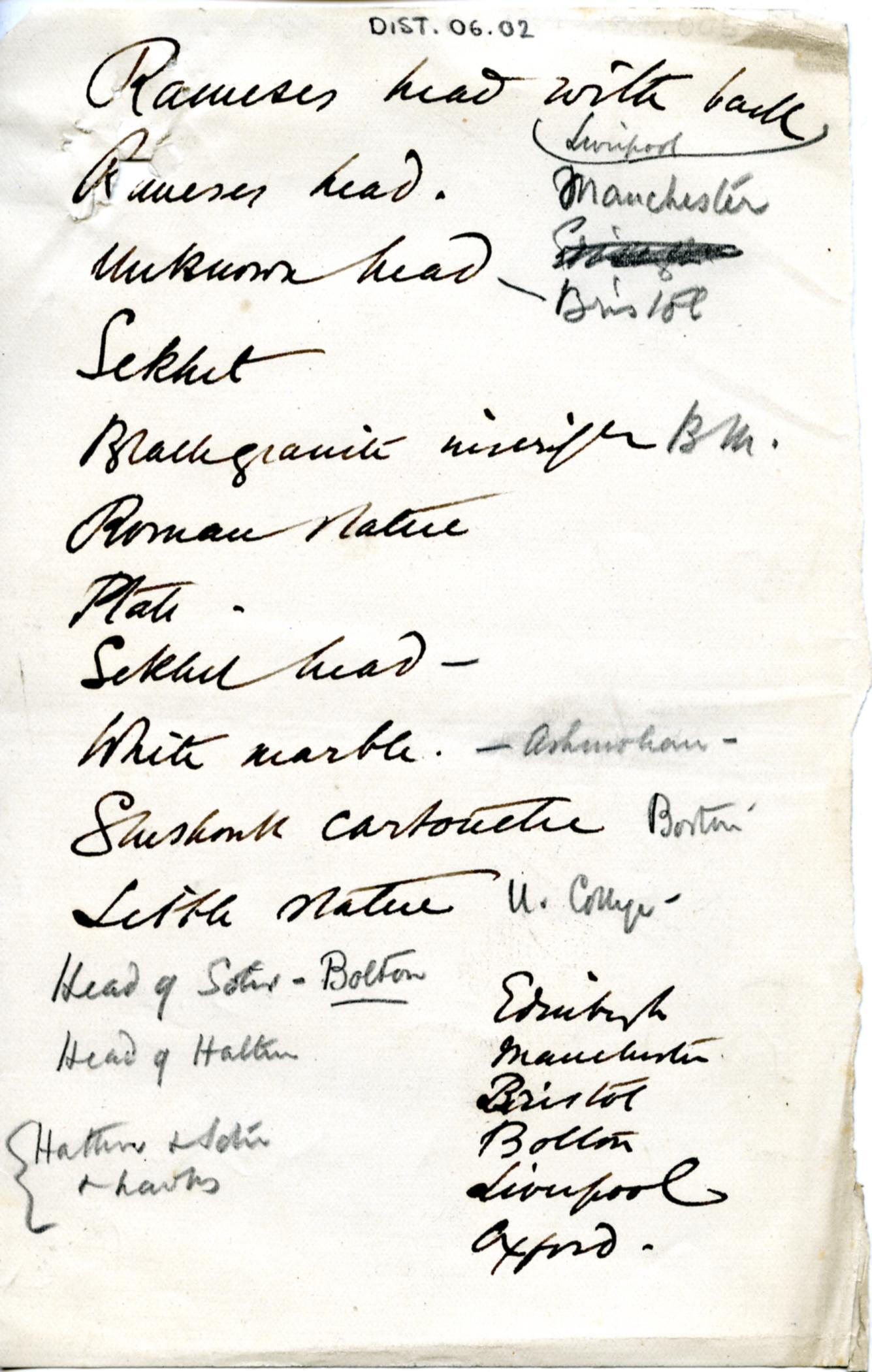 1887-1889 Tell el-Yahudiya, Teranneh, Heliopolis, Bubastis DIST.06.02