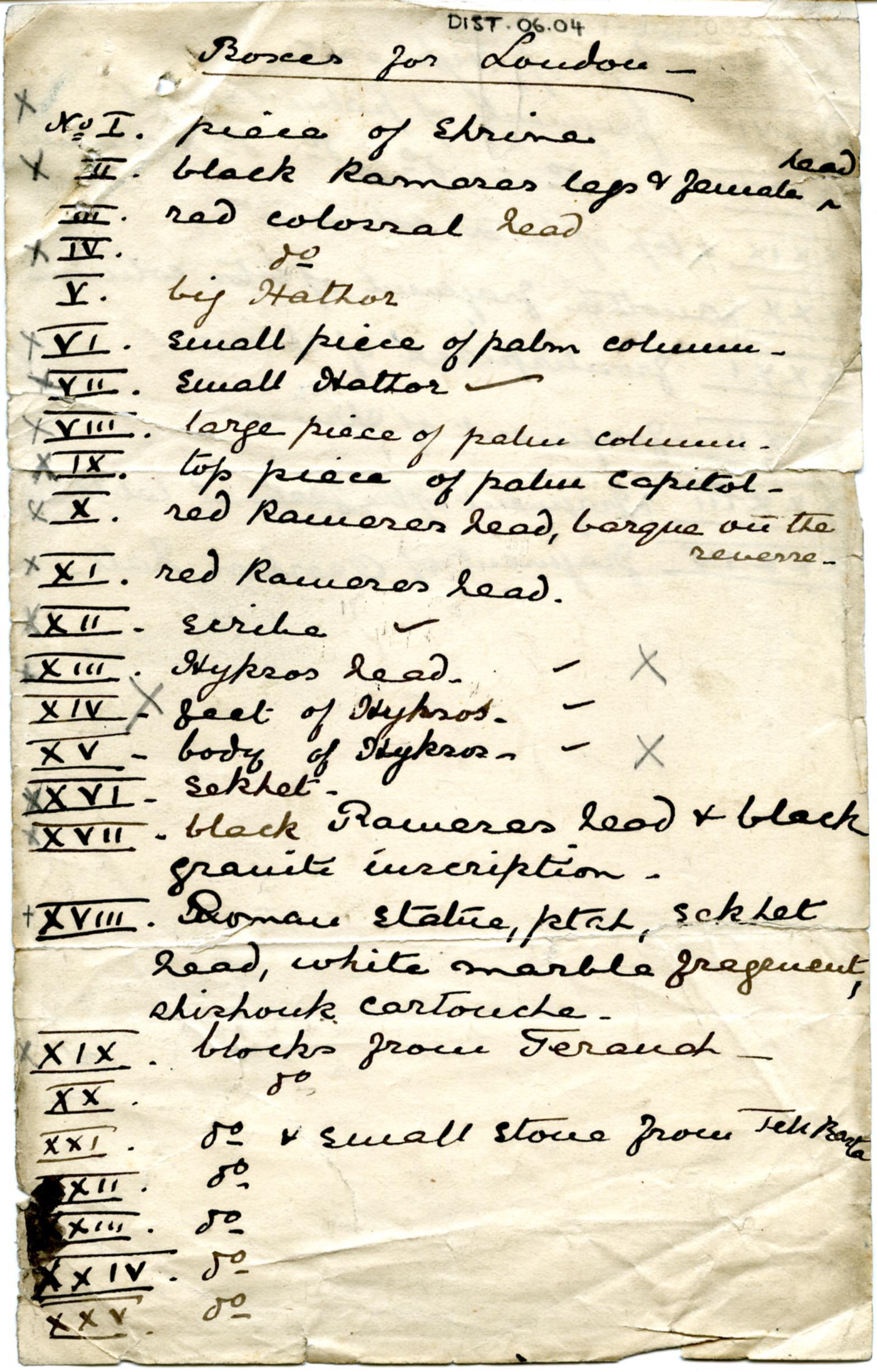 1887-1889 Tell el-Yahudiya, Teranneh, Heliopolis, Bubastis DIST.06.04a