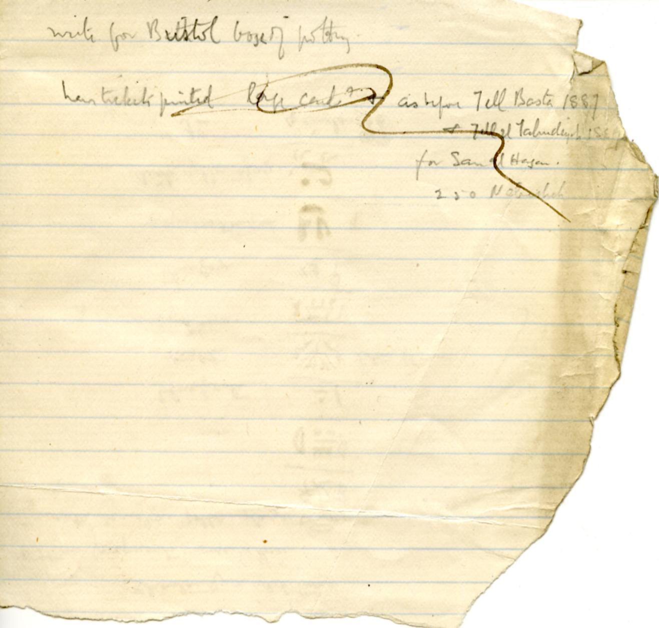 1886 Nebesheh Tell Dafana 1884 el-Qantara, Tell Gemayemi, Tell Sueilin DIST.09.07b