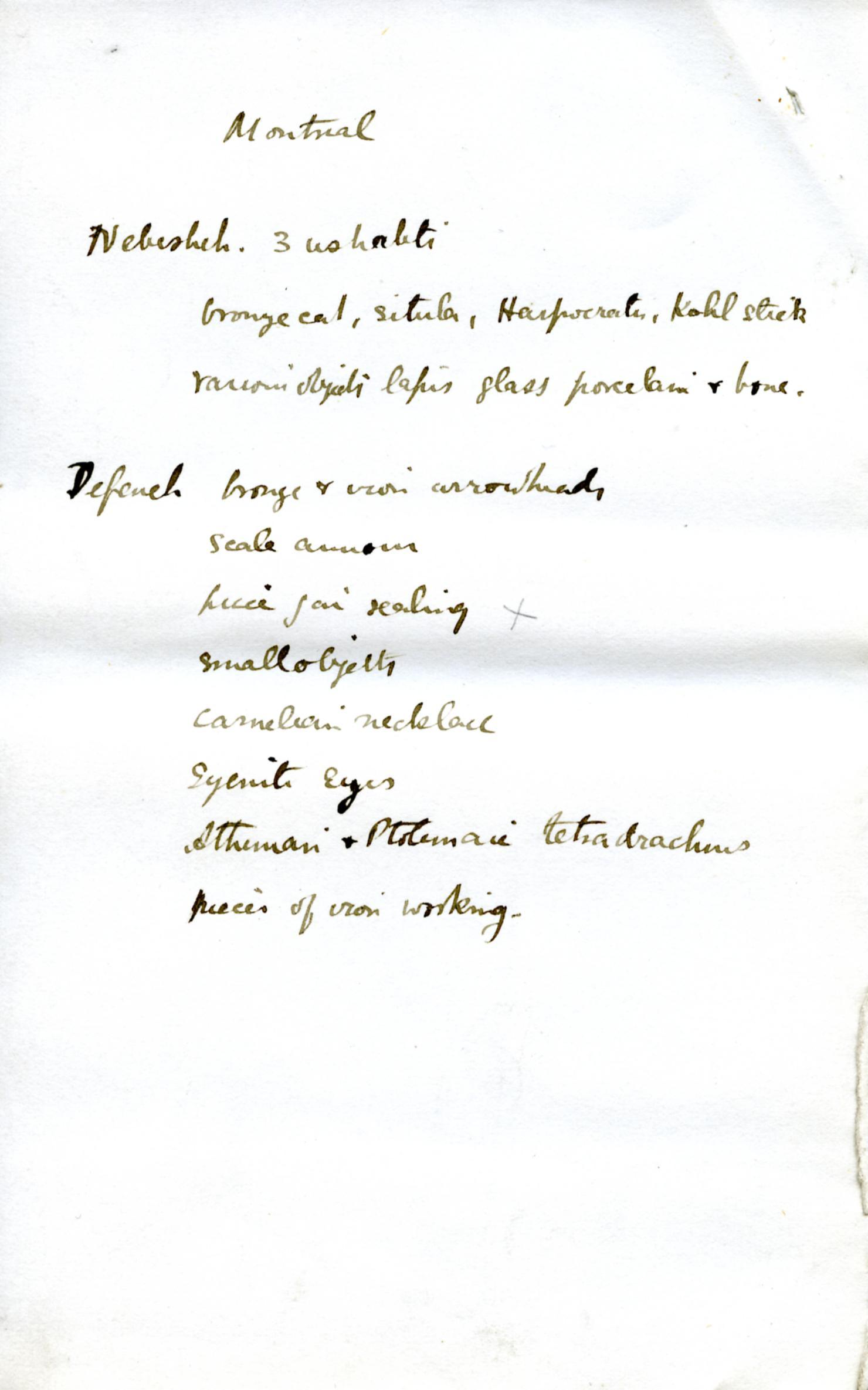 1886 Nebesheh Tell Dafana 1884 el-Qantara, Tell Gemayemi, Tell Sueilin DIST.09.09k