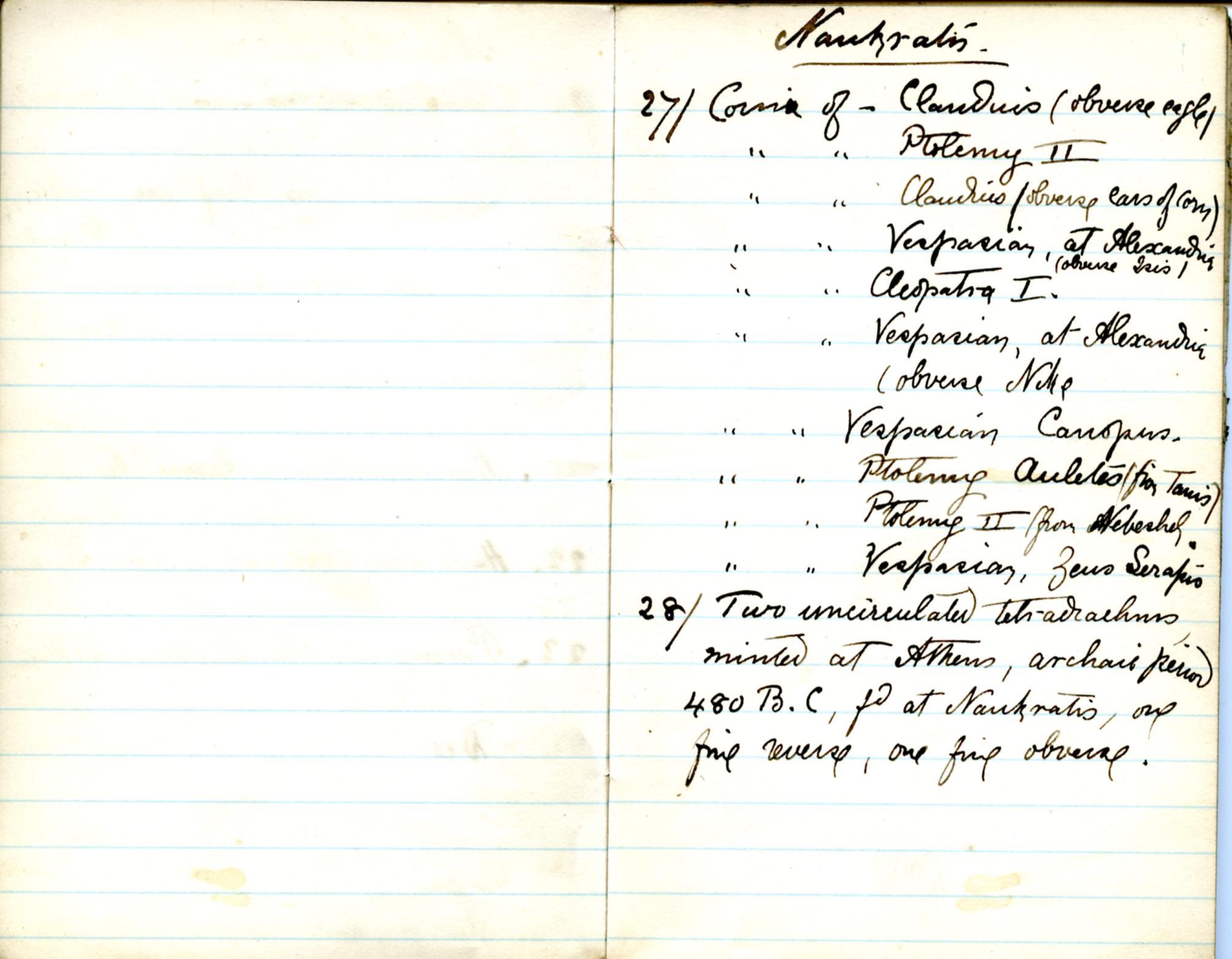 1884-85 Naukratis, Tanis, Bubastis, Tell el-Yahudiya, Nebesheh, Tell Dafana, Tell Sueilin, Tell el-Maskuta DIST.10.01d
