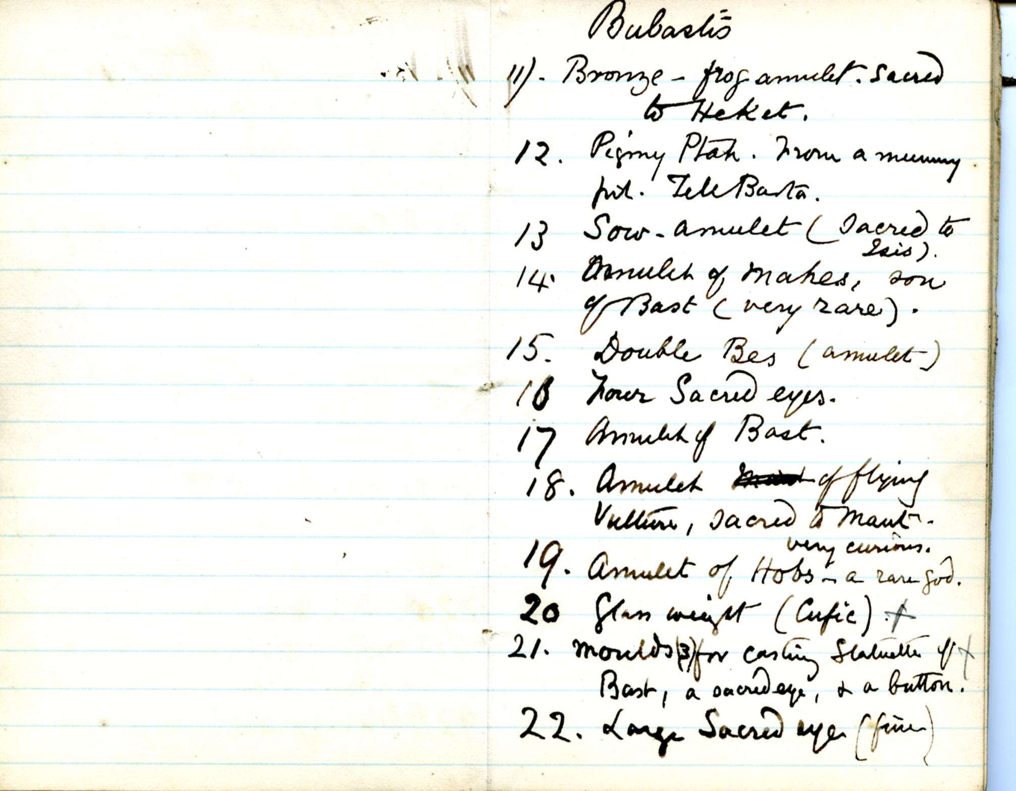 1884-85 Naukratis, Tanis, Bubastis, Tell el-Yahudiya, Nebesheh, Tell Dafana, Tell Sueilin, Tell el-Maskuta DIST.10.01j