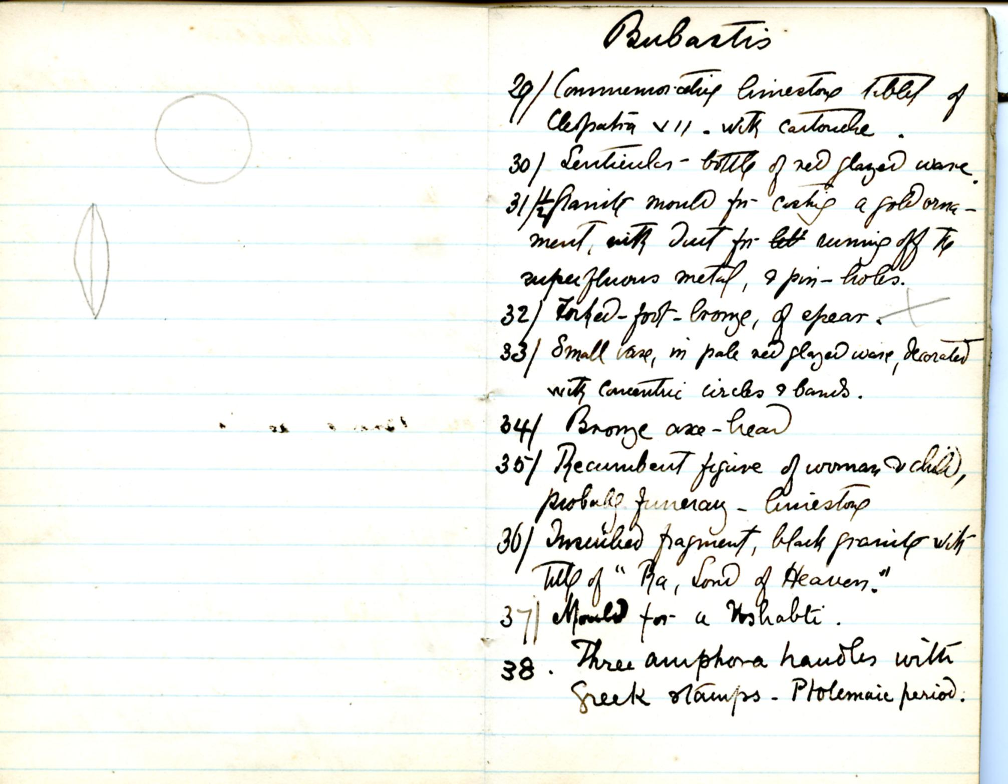 1884-85 Naukratis, Tanis, Bubastis, Tell el-Yahudiya, Nebesheh, Tell Dafana, Tell Sueilin, Tell el-Maskuta DIST.10.01l