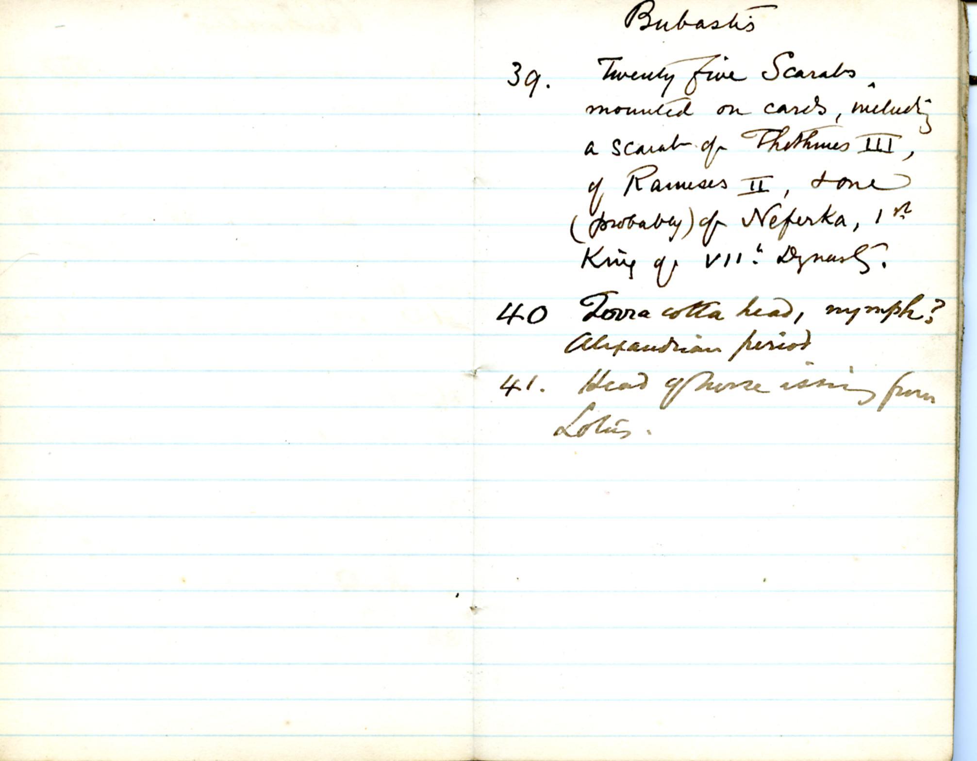 1884-85 Naukratis, Tanis, Bubastis, Tell el-Yahudiya, Nebesheh, Tell Dafana, Tell Sueilin, Tell el-Maskuta DIST.10.01m