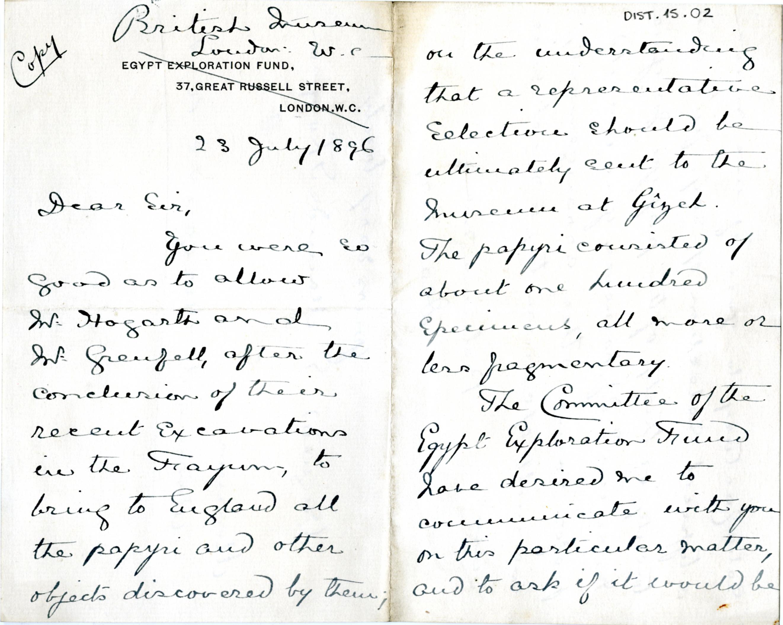 1884-1915 Oxyrhynchus, Faiyum, el-Hibeh, Atfieh, el-Sheikh Ibada DIST.15.02a