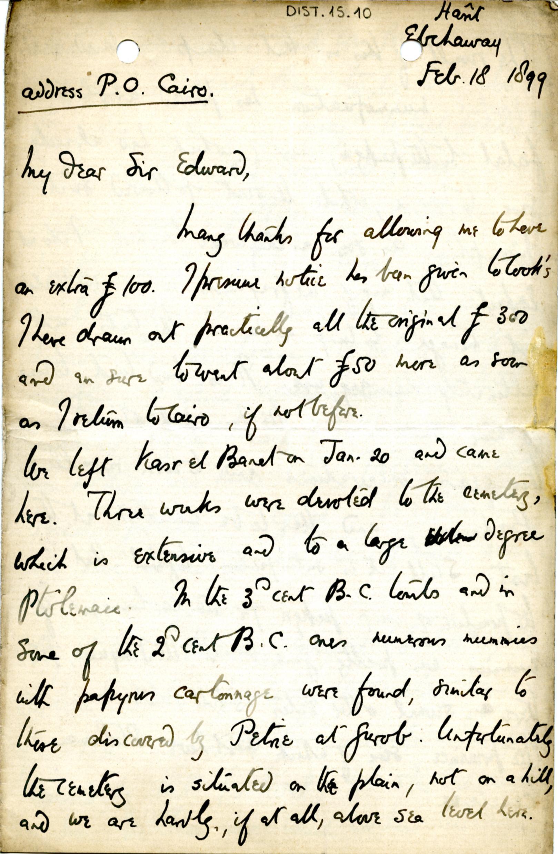 1884-1915 Oxyrhynchus, Faiyum, el-Hibeh, Atfieh, el-Sheikh Ibada DIST.15.10a