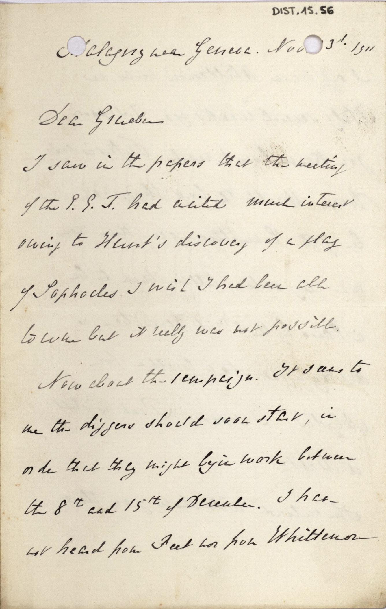 1884-1915 Oxyrhynchus, Faiyum, el-Hibeh, Atfieh, el-Sheikh Ibada DIST.15.56a