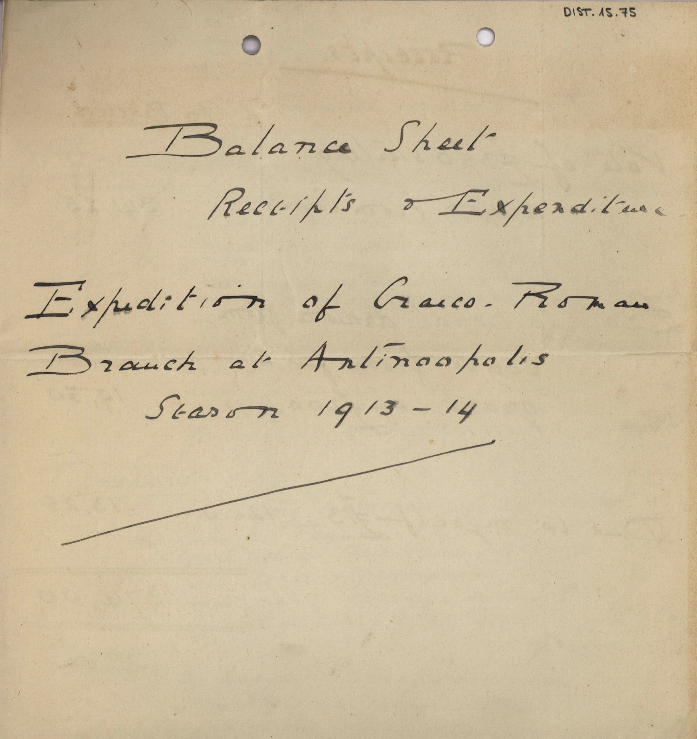 1884-1915 Oxyrhynchus, Faiyum, el-Hibeh, Atfieh, el-Sheikh Ibada DIST.15.75a