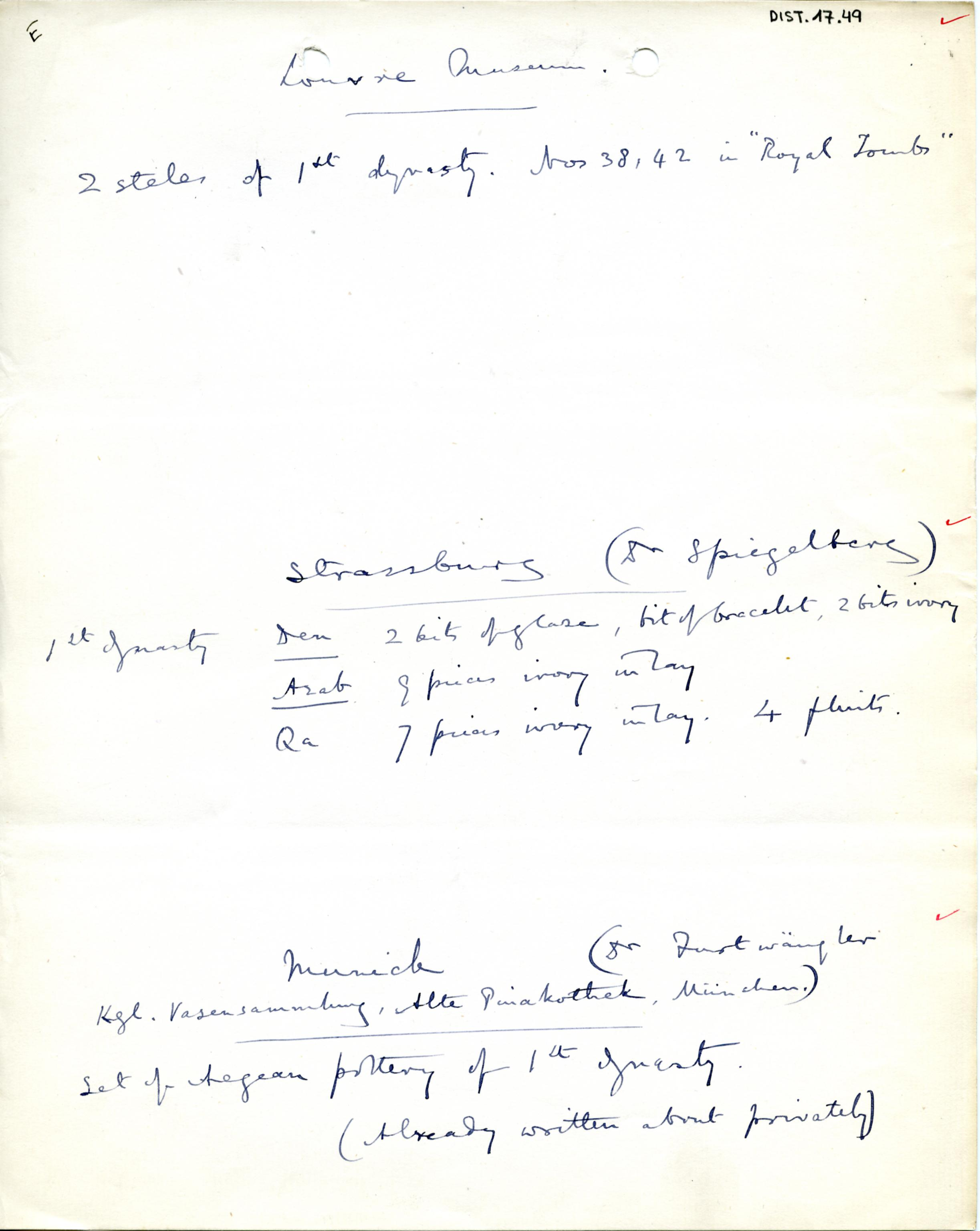 1898-1899 Hu, 1899-1900 Abydos DIST.17.49