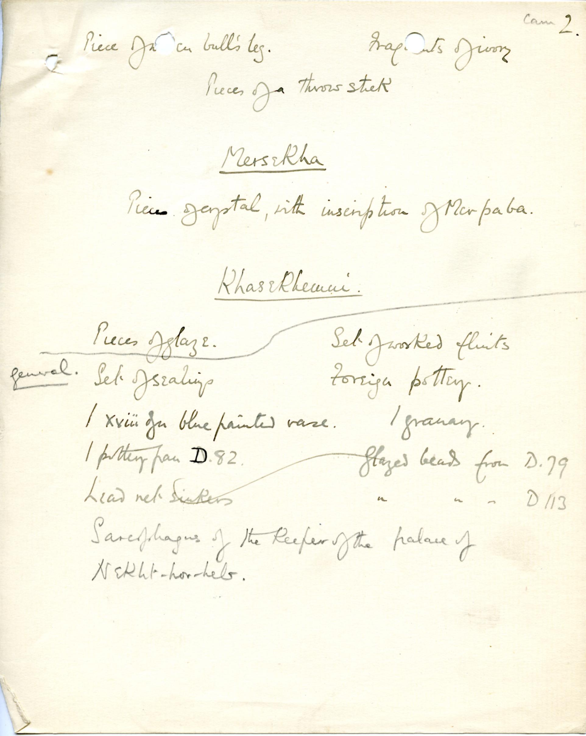 1898-1899 Hu, 1899-1900 Abydos DIST.17.62b