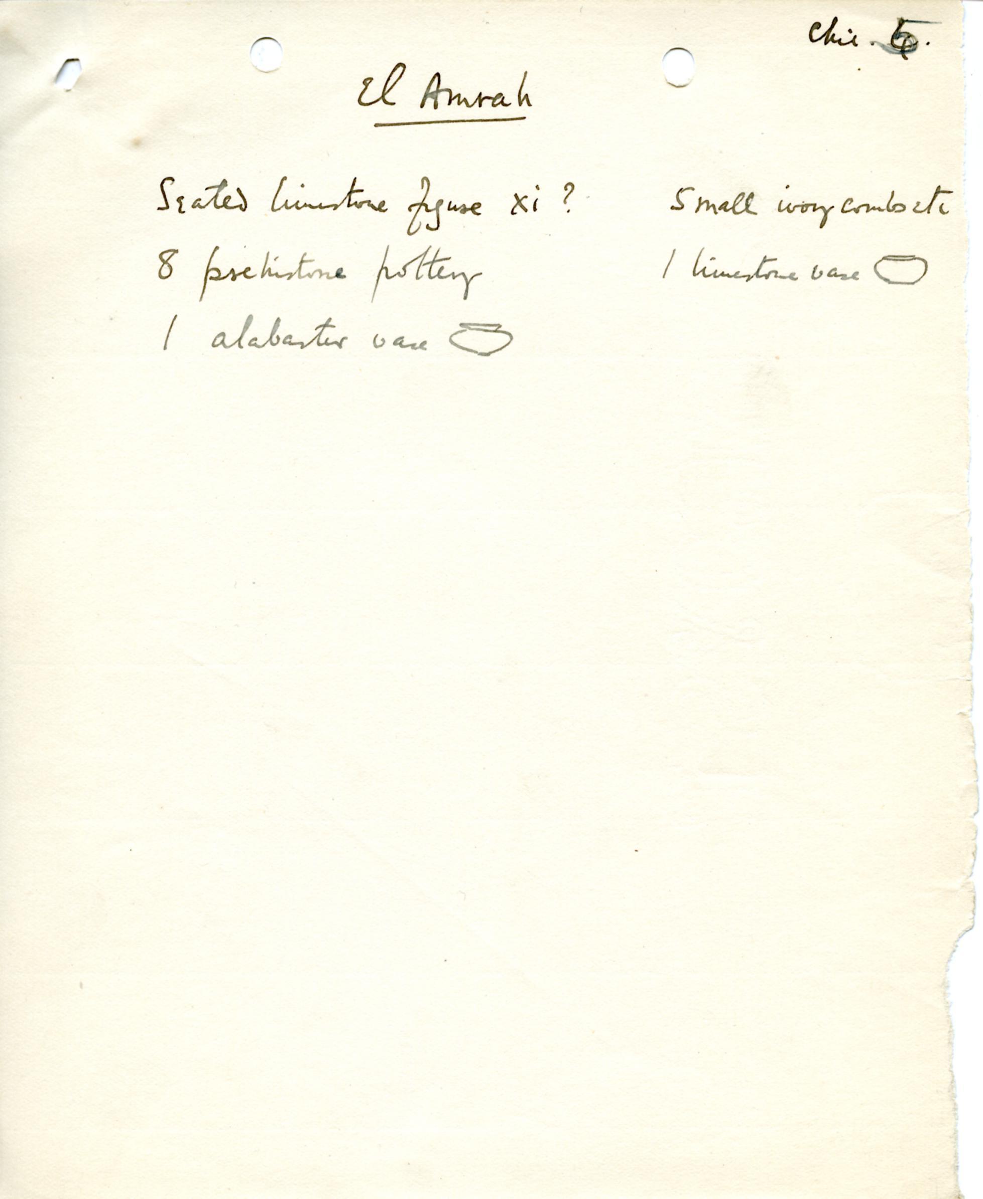 1898-1899 Hu, 1899-1900 Abydos DIST.17.63e