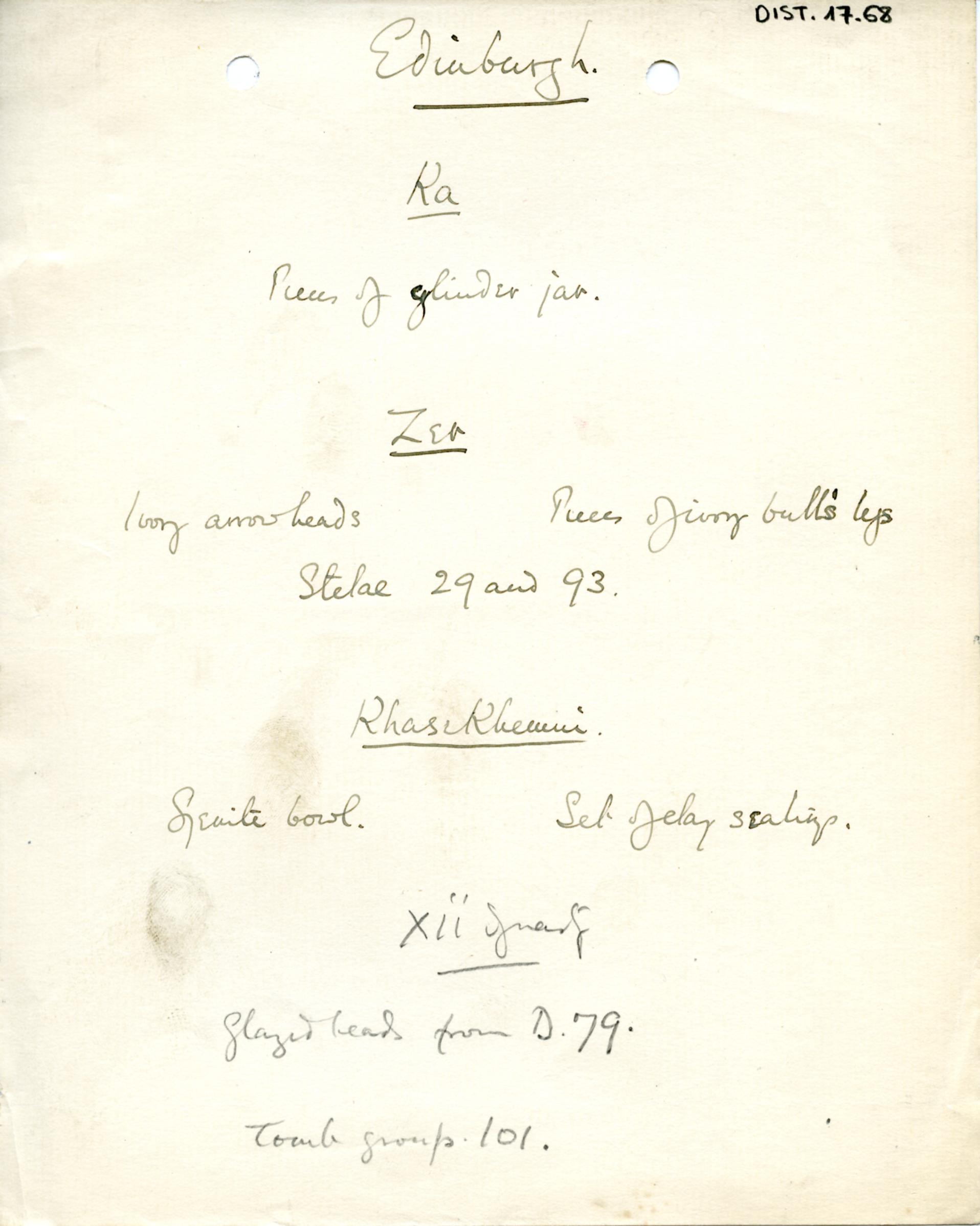 1898-1899 Hu, 1899-1900 Abydos DIST.17.68