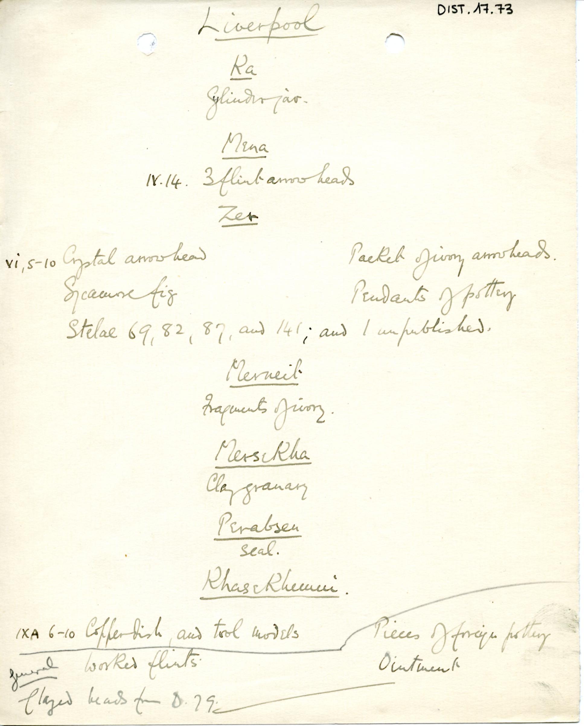 1898-1899 Hu, 1899-1900 Abydos DIST.17.73