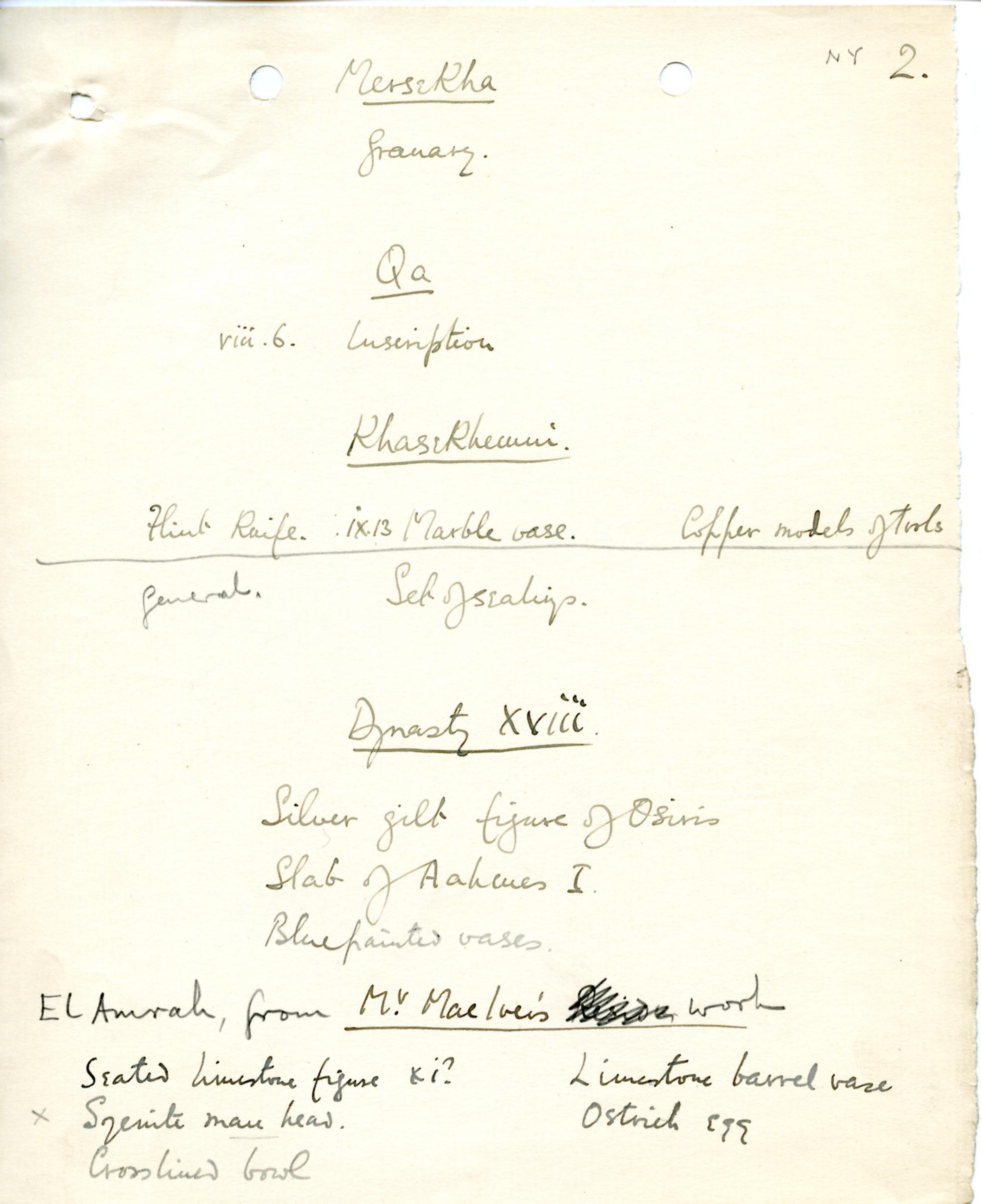 1898-1899 Hu, 1899-1900 Abydos DIST.17.76b