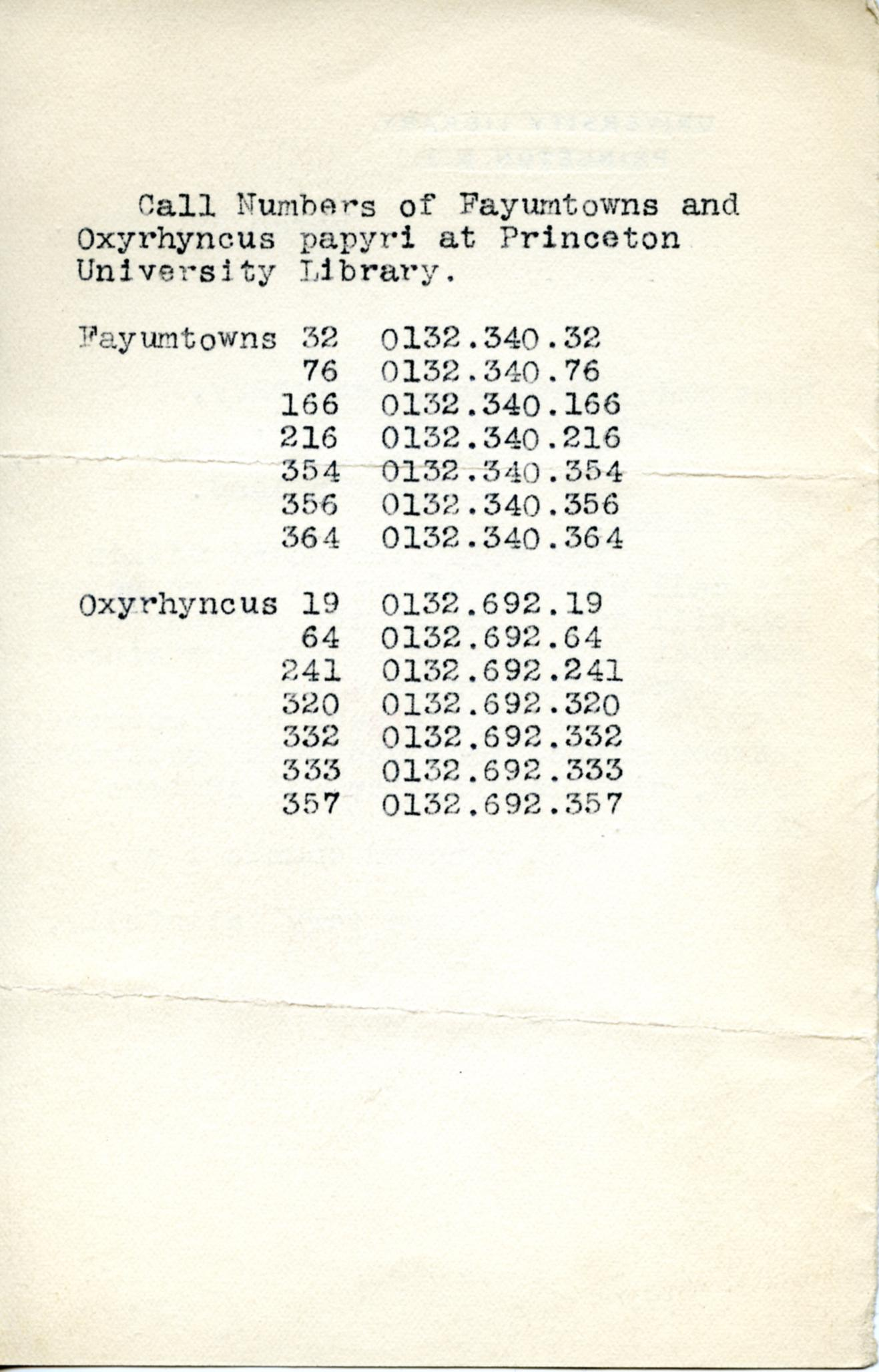 1895-1903 Oxyrhynchus, Faiyum DIST.18.10b