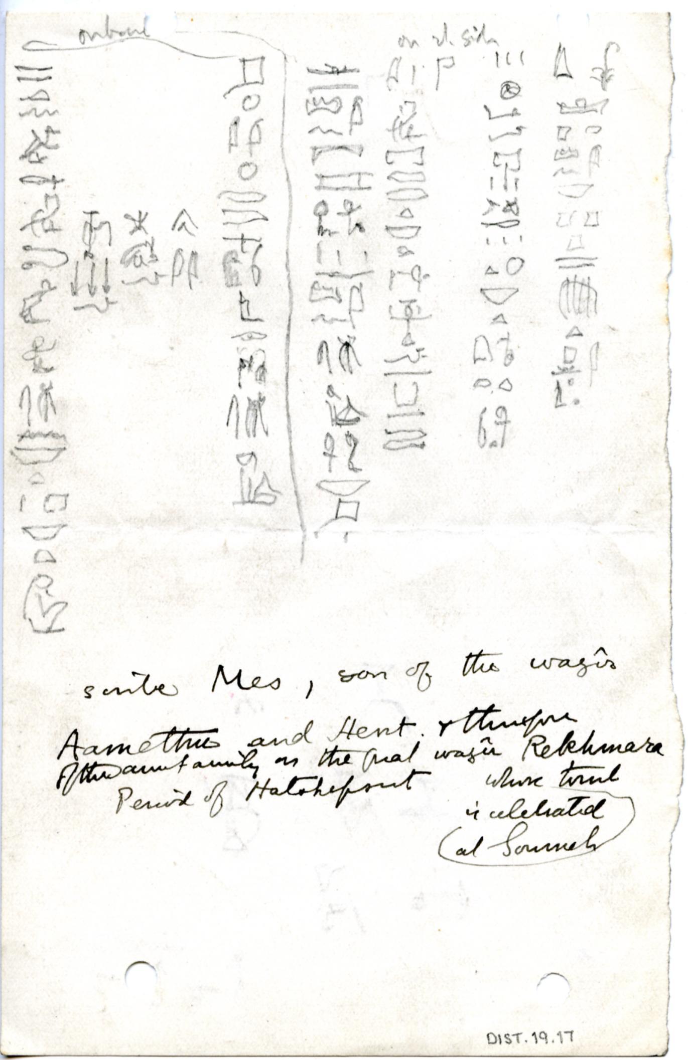 1899-1900, 1900-01 Abydos, 1900-01 el-Amra DIST.19.17a