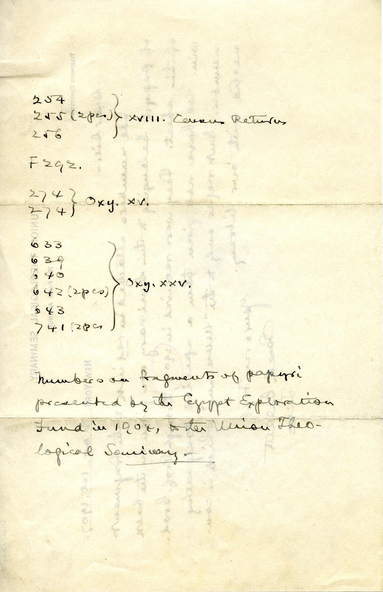 1902-07 Oxyrhynchus, Faiyum, el-Hibeh DIST.22.31b
