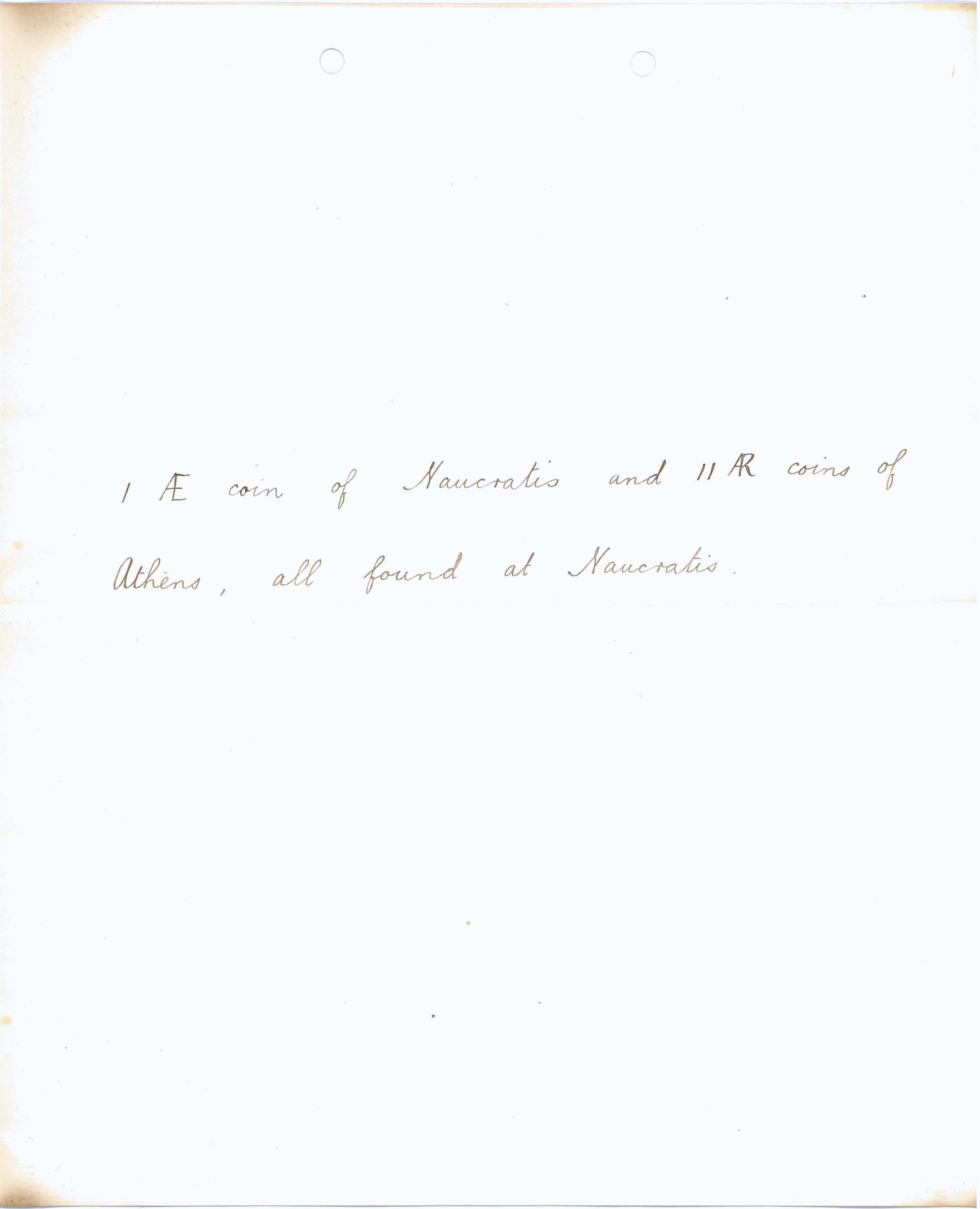 1904-05 Sinai, Deir el-Bahri, Oxyrhynchus, Naukratis DIST.23.02b