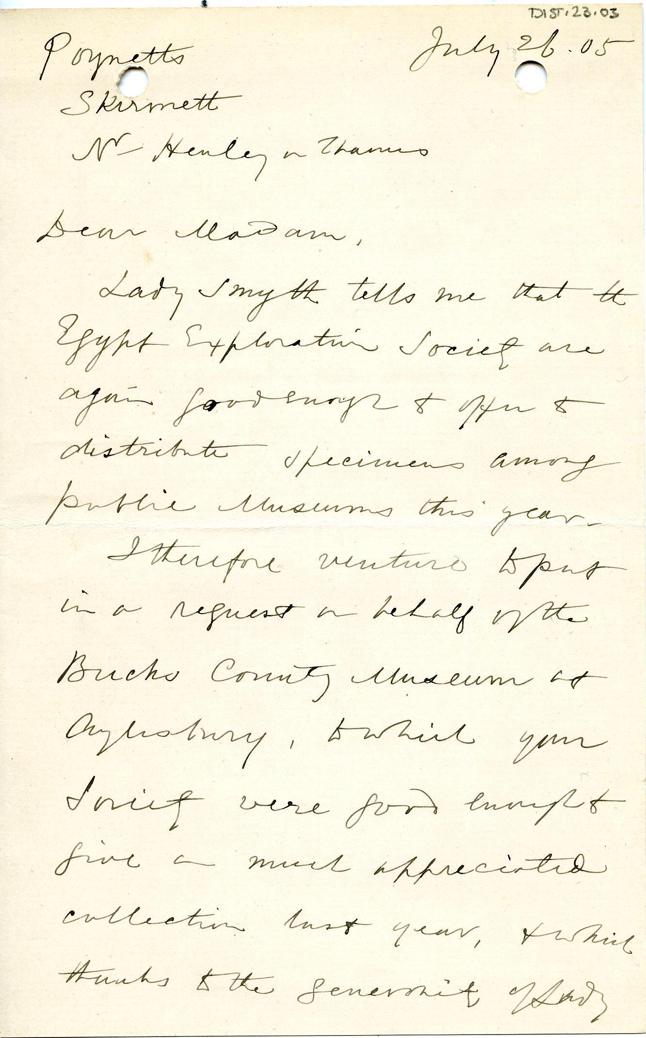 1904-05 Sinai, Deir el-Bahri, Oxyrhynchus, Naukratis DIST.23.03a