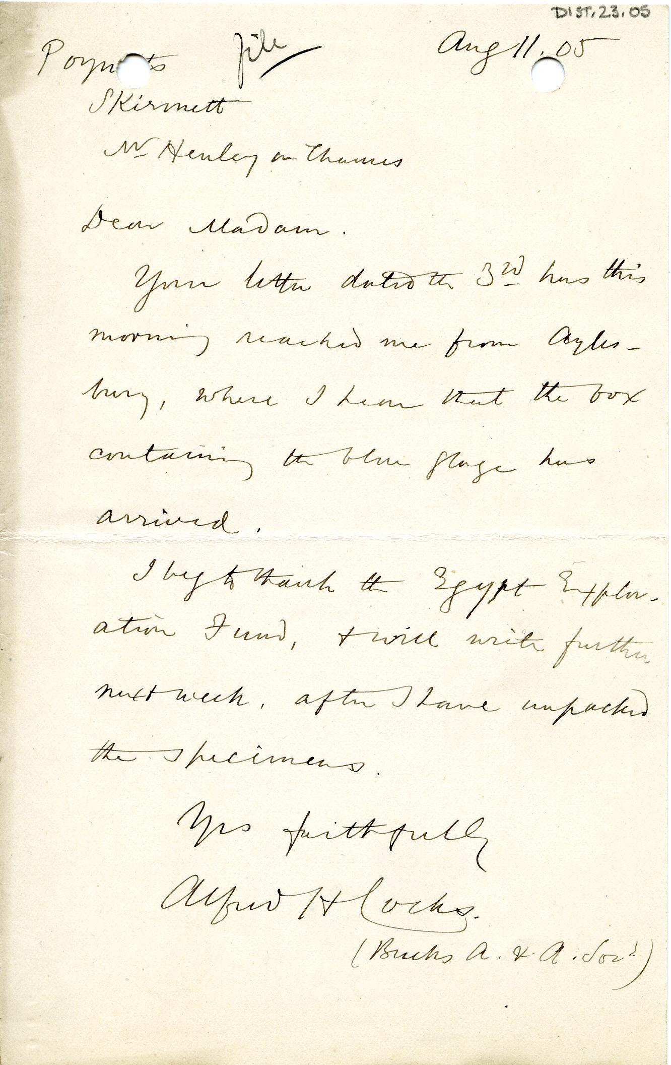 1904-05 Sinai, Deir el-Bahri, Oxyrhynchus, Naukratis DIST.23.05