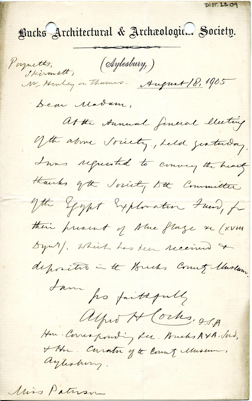 1904-05 Sinai, Deir el-Bahri, Oxyrhynchus, Naukratis DIST.23.09