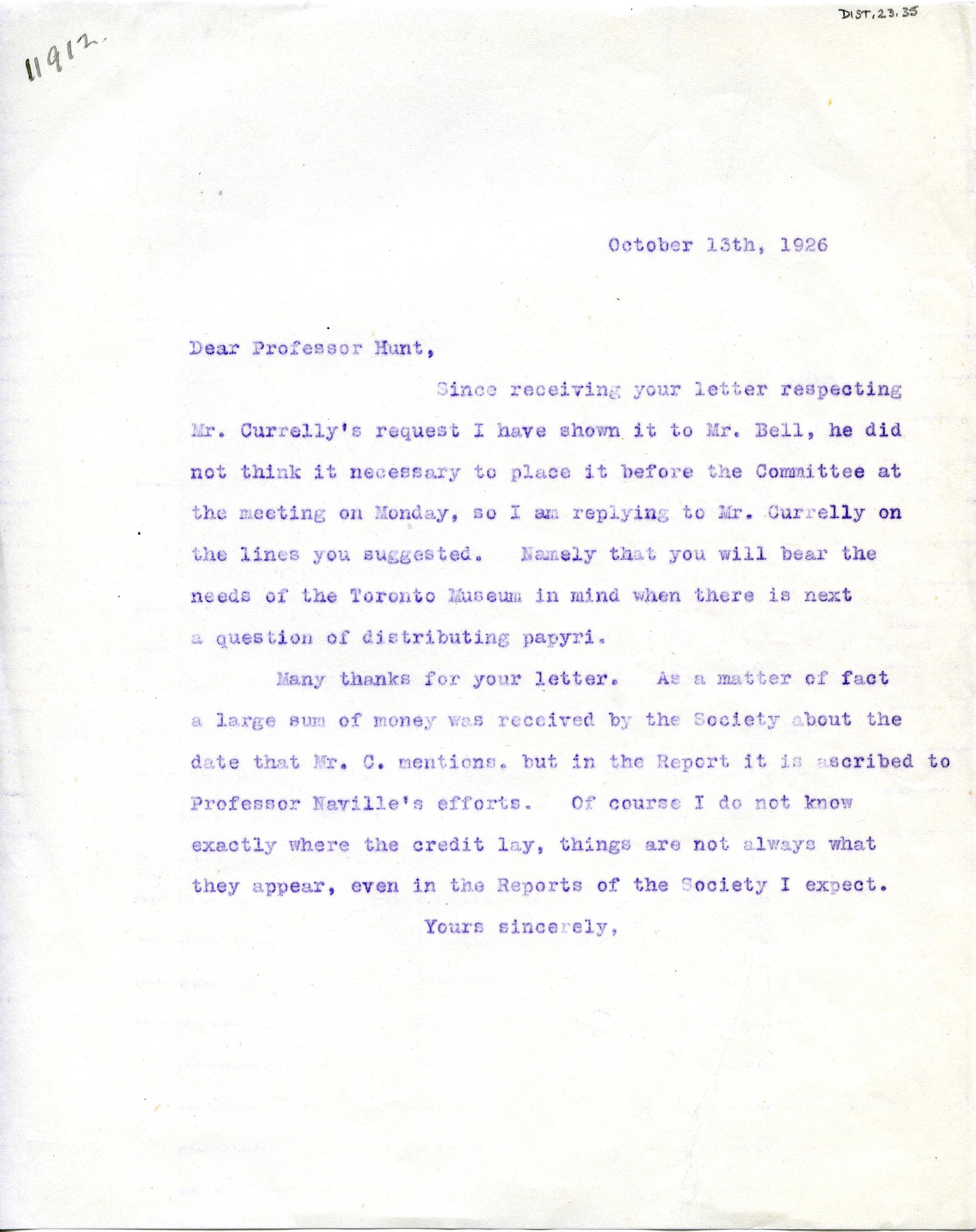 1904-05 Sinai, Deir el-Bahri, Oxyrhynchus, Naukratis DIST.23.35