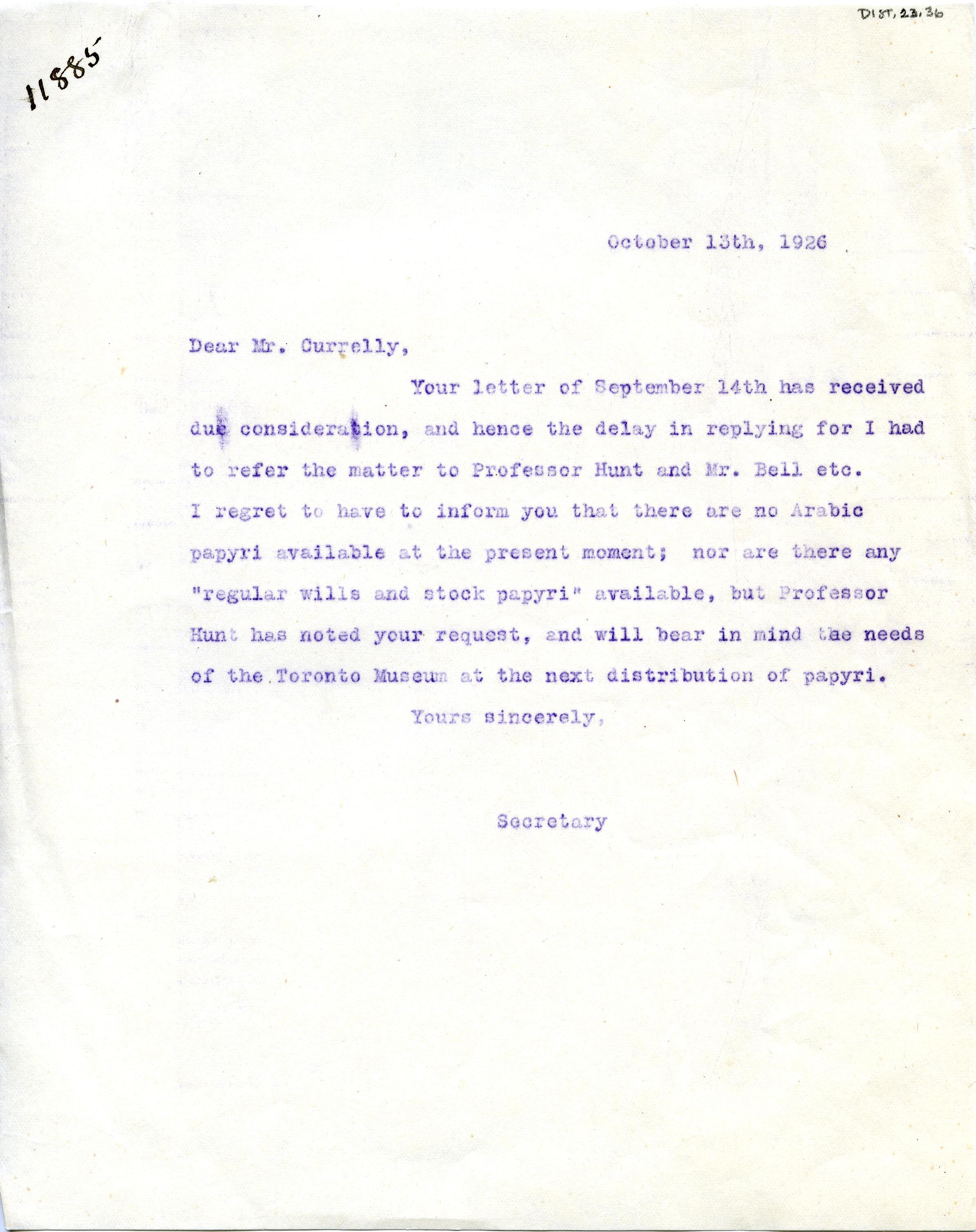 1904-05 Sinai, Deir el-Bahri, Oxyrhynchus, Naukratis DIST.23.36