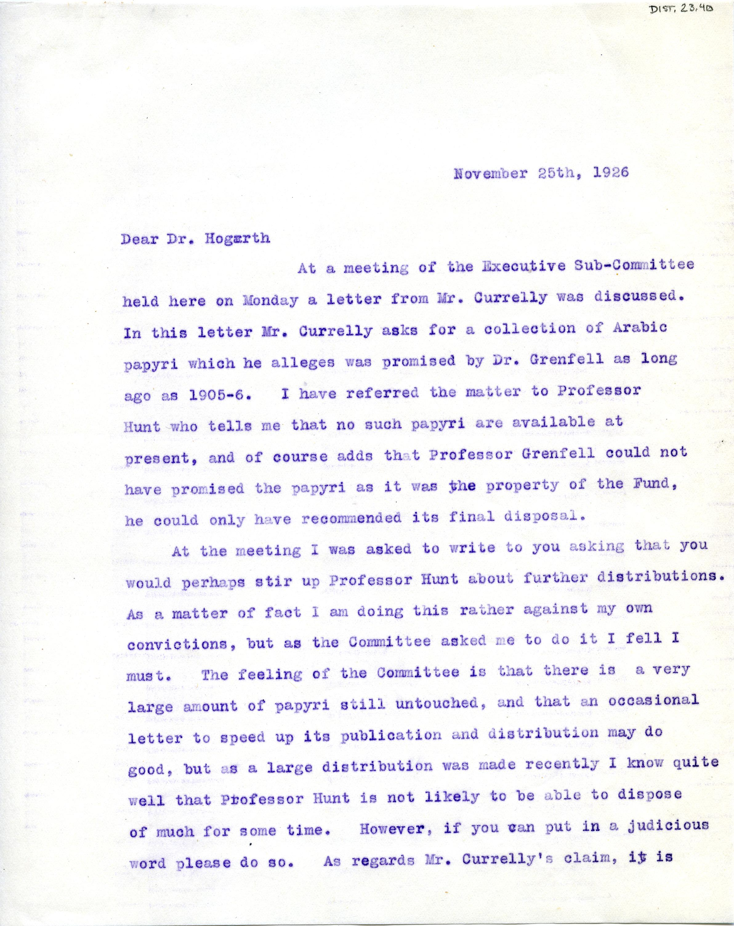 1904-05 Sinai, Deir el-Bahri, Oxyrhynchus, Naukratis DIST.23.40a