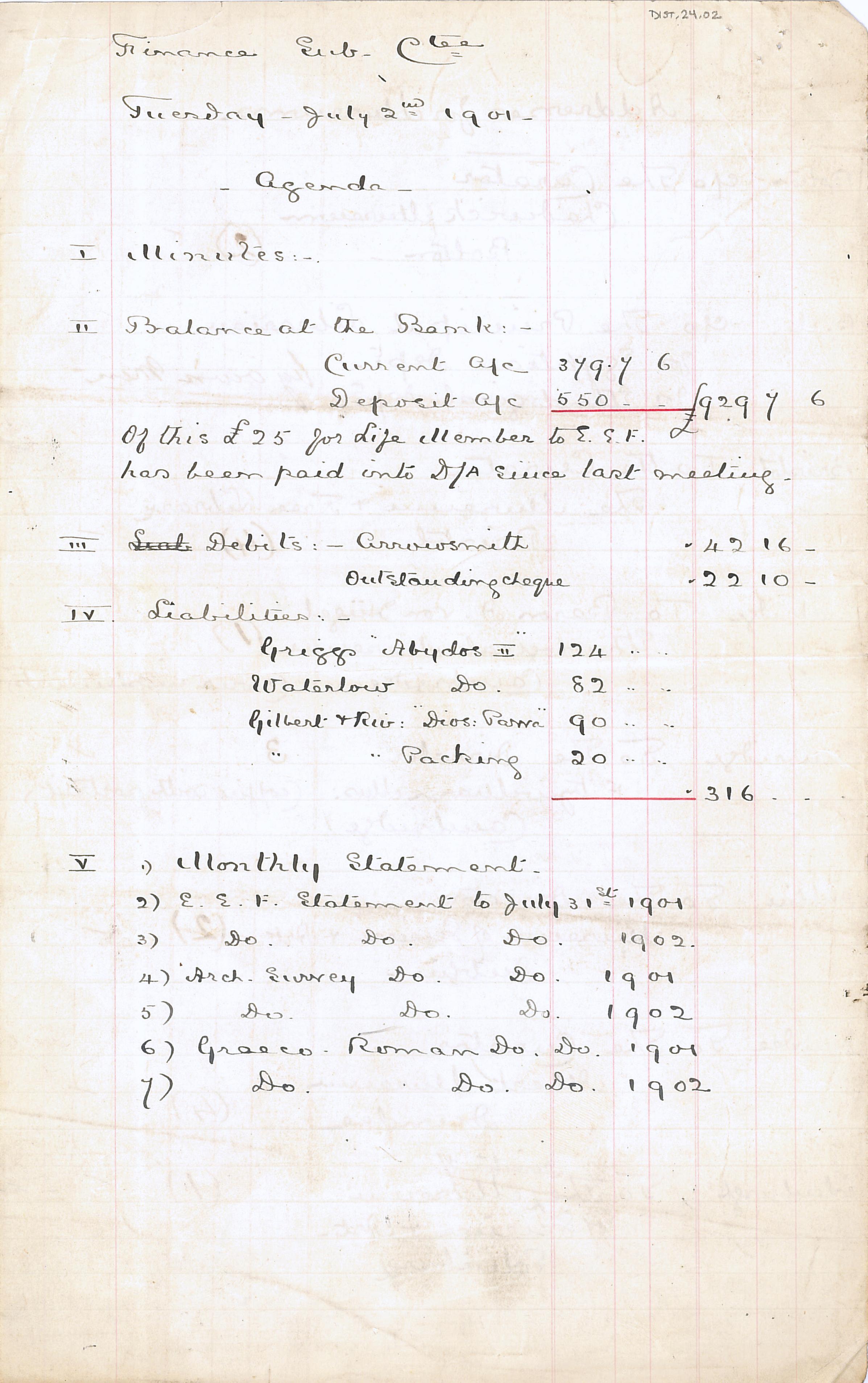 1904-05 Deir el-Bahri, Sinai, Oxyrhynchus DIST.24.02a