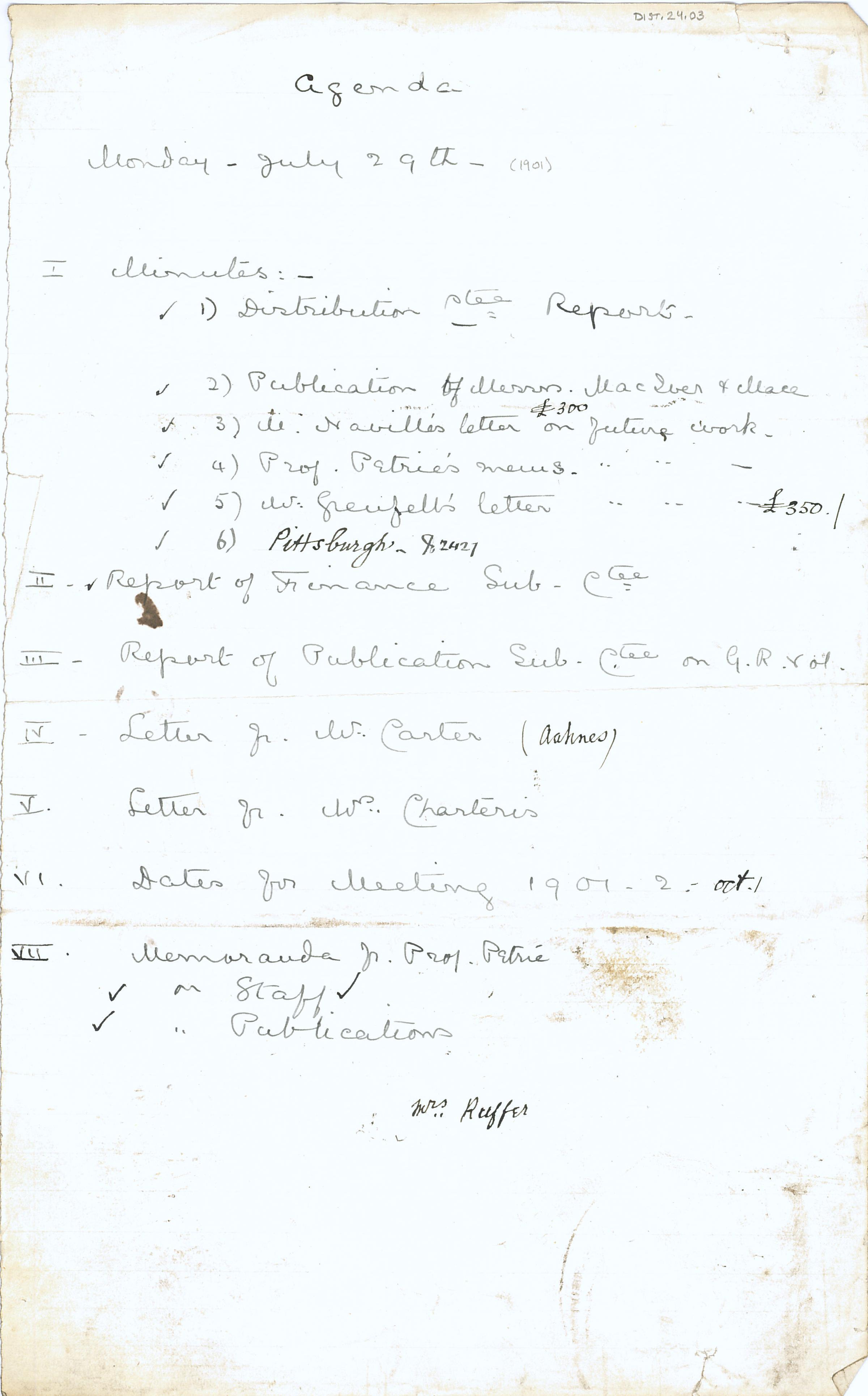 1904-05 Deir el-Bahri, Sinai, Oxyrhynchus DIST.24.03a