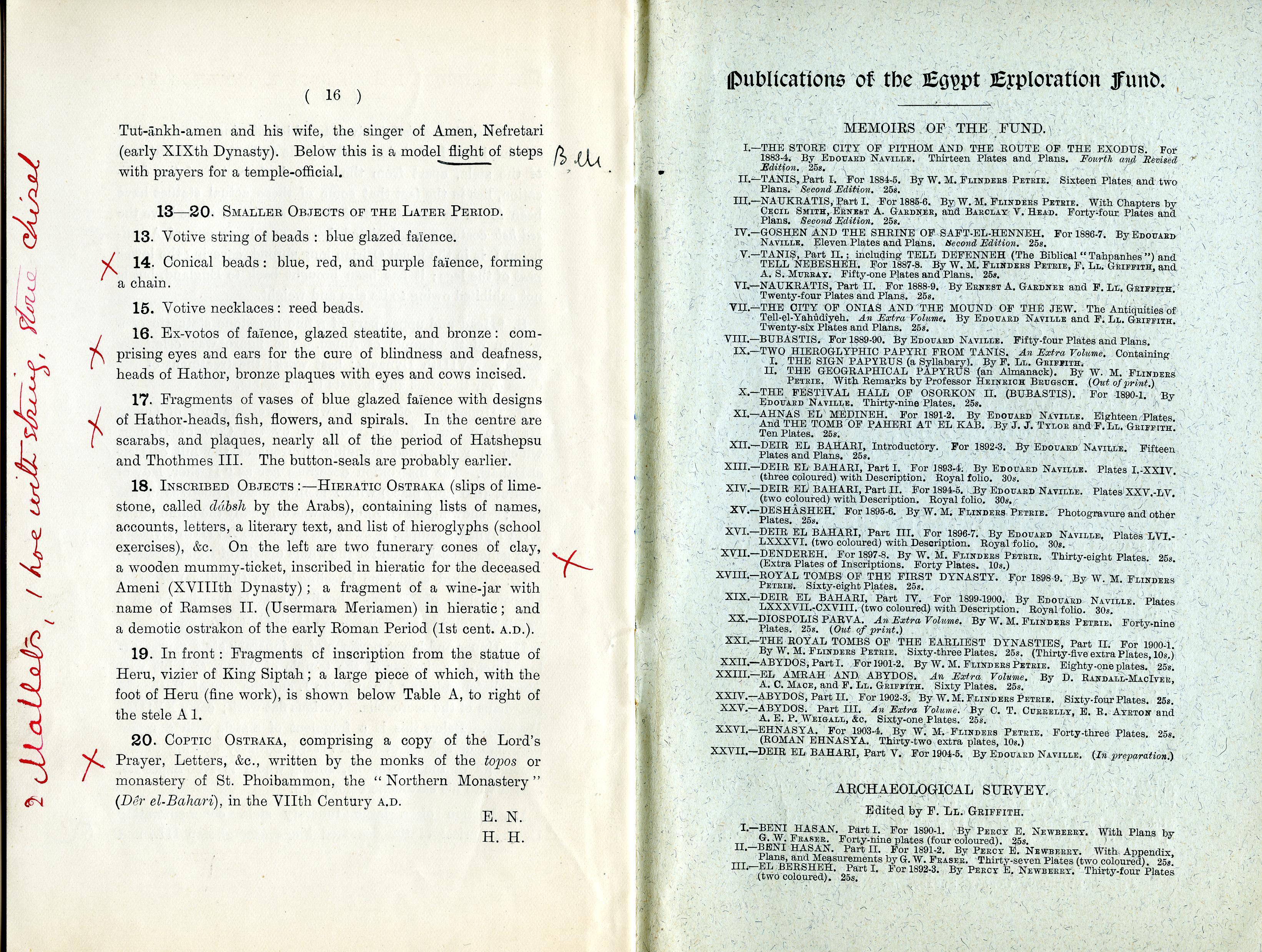 1904-05 Deir el-Bahri, Sinai, Oxyrhynchus DIST.24.04j