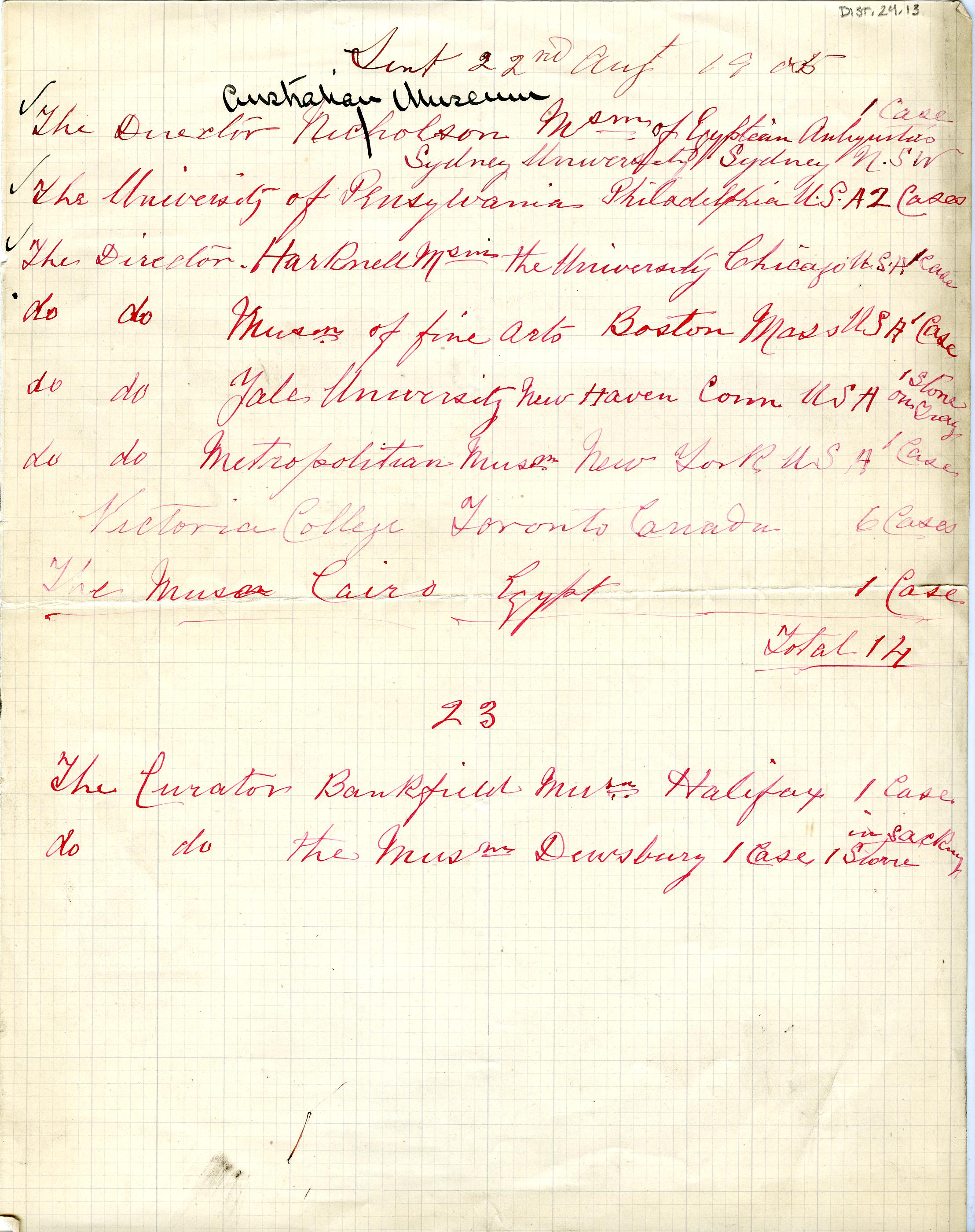 1904-05 Deir el-Bahri, Sinai, Oxyrhynchus DIST.24.13
