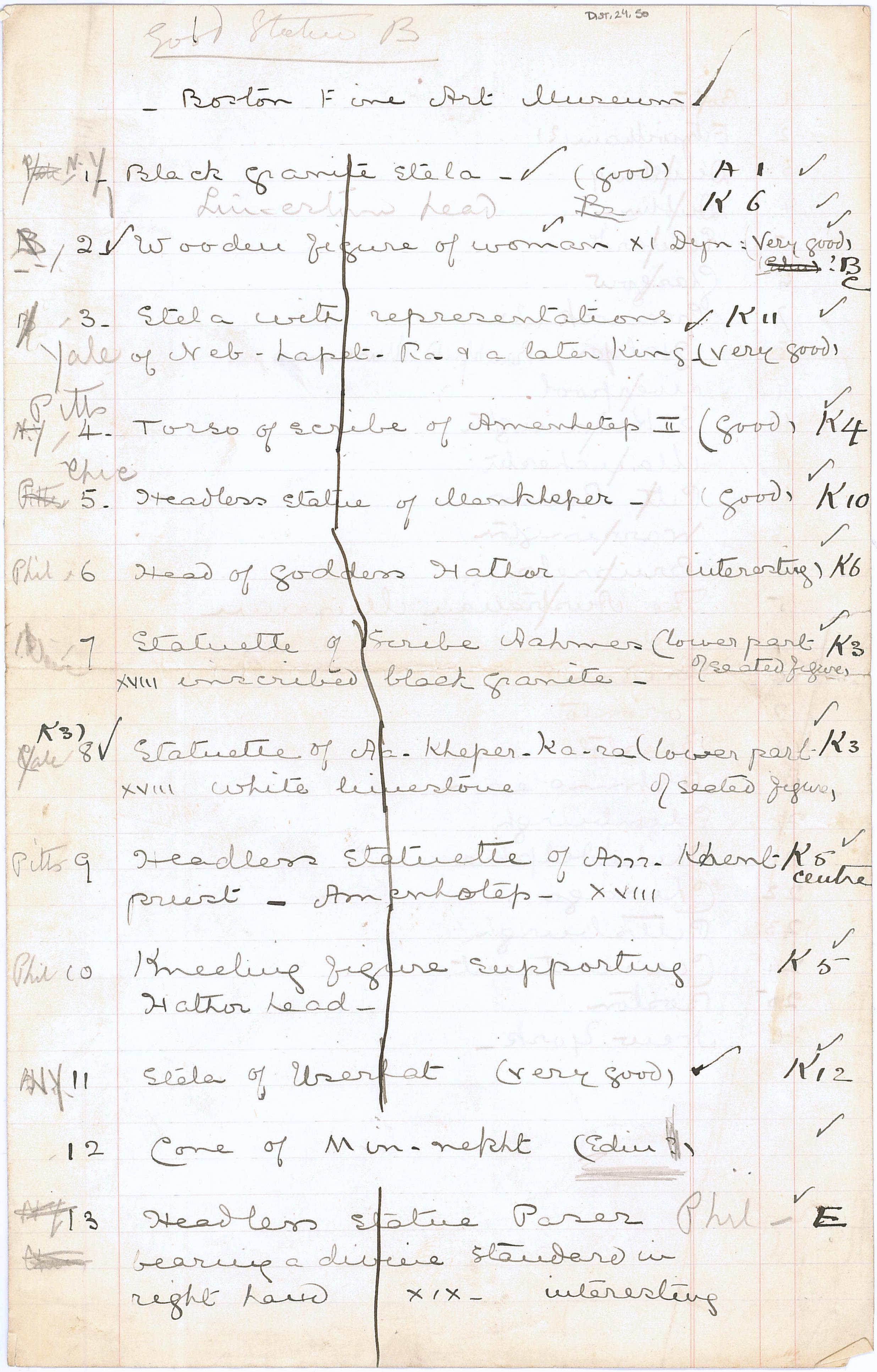 1904-05 Deir el-Bahri, Sinai, Oxyrhynchus DIST.24.50a