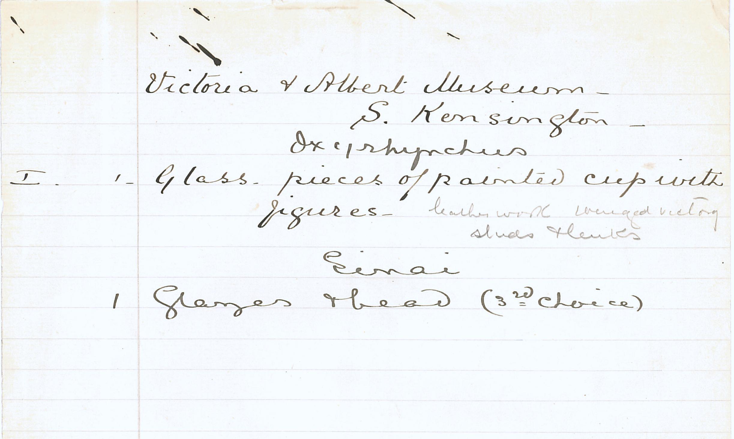1904-05 Deir el-Bahri, Sinai, Oxyrhynchus DIST.24.56n