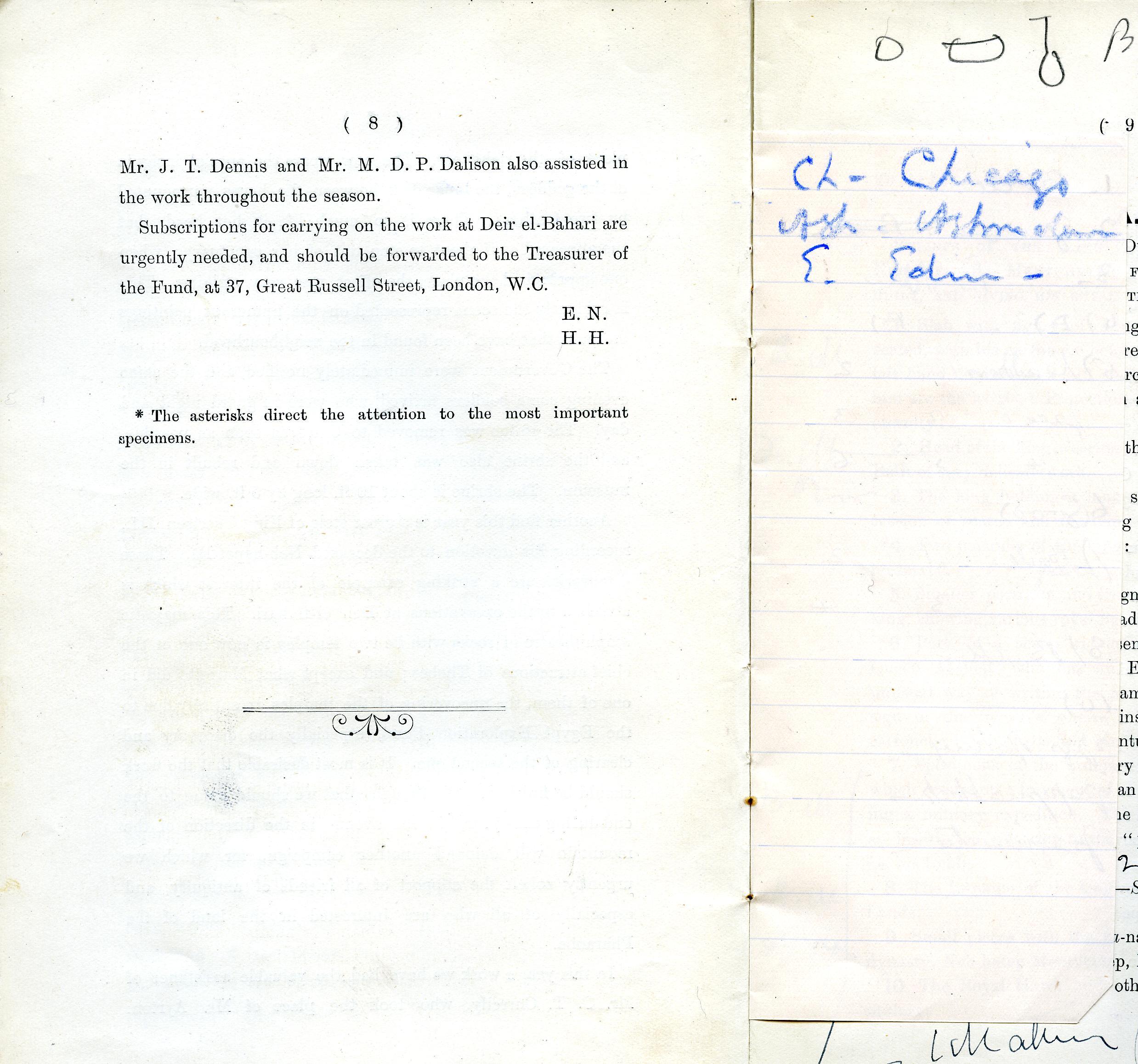 1905-06 Deir el-Bahri, Oxyrhynchus DIST.26.17h