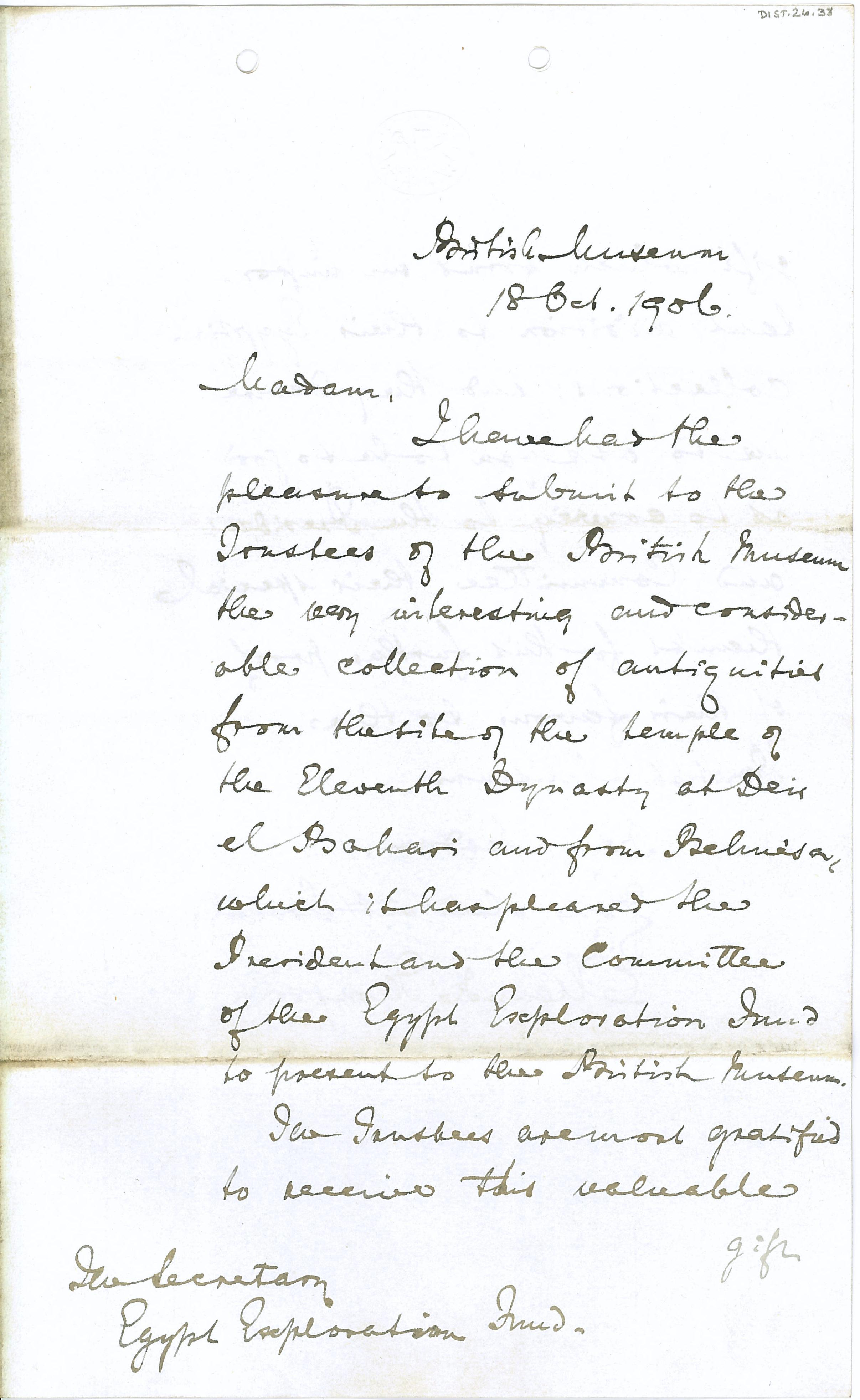 1905-06 Deir el-Bahri, Oxyrhynchus DIST.26.38a