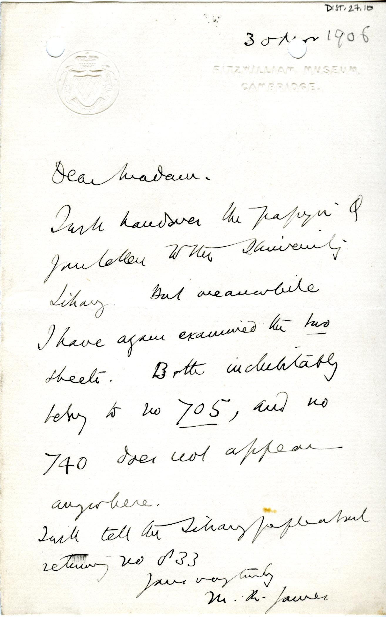 1905-06 Oxyrhynchus, el-Hibeh, Faiyum DIST.27.10
