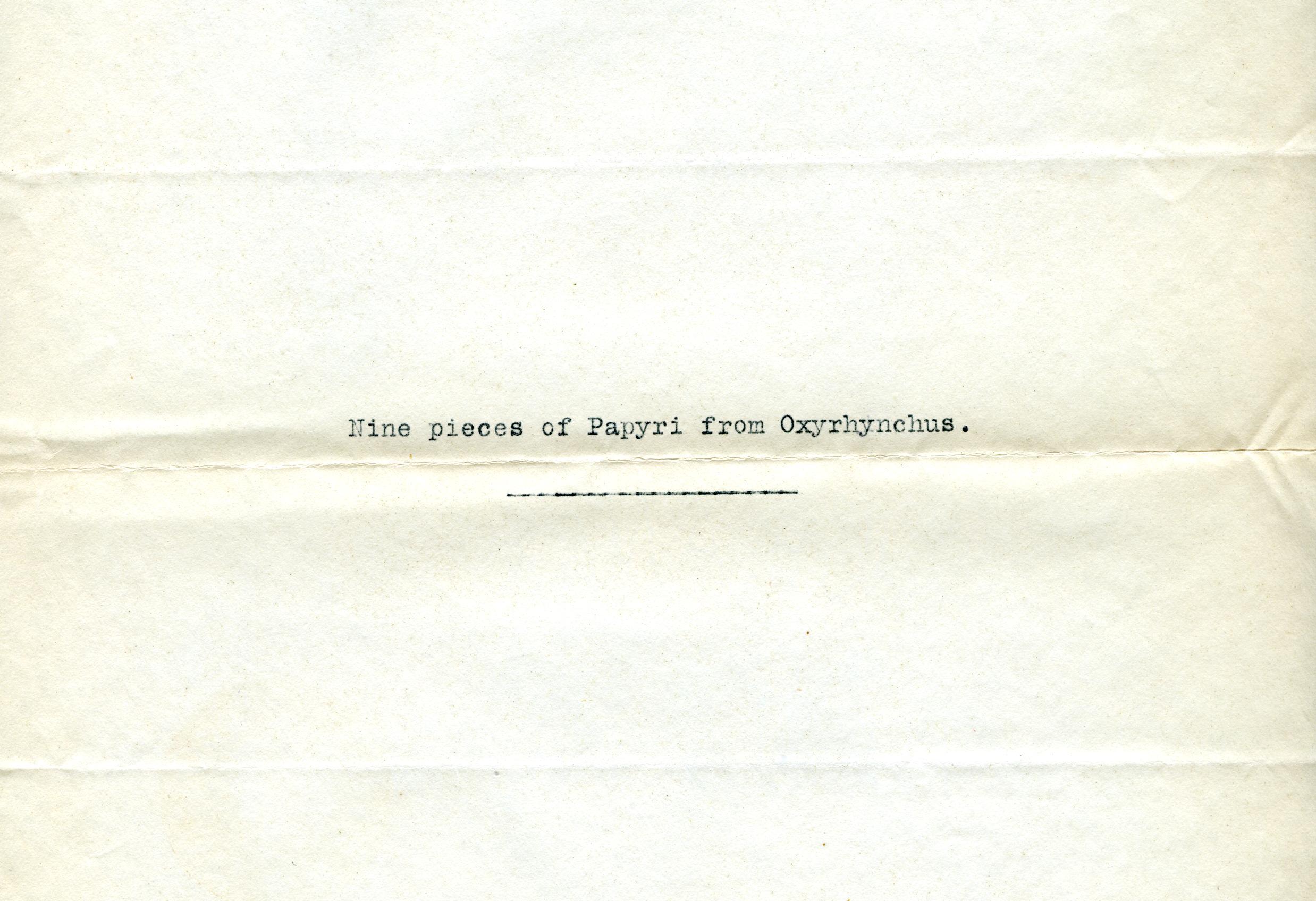 1905-06 Oxyrhynchus, el-Hibeh, Faiyum DIST.27.34b