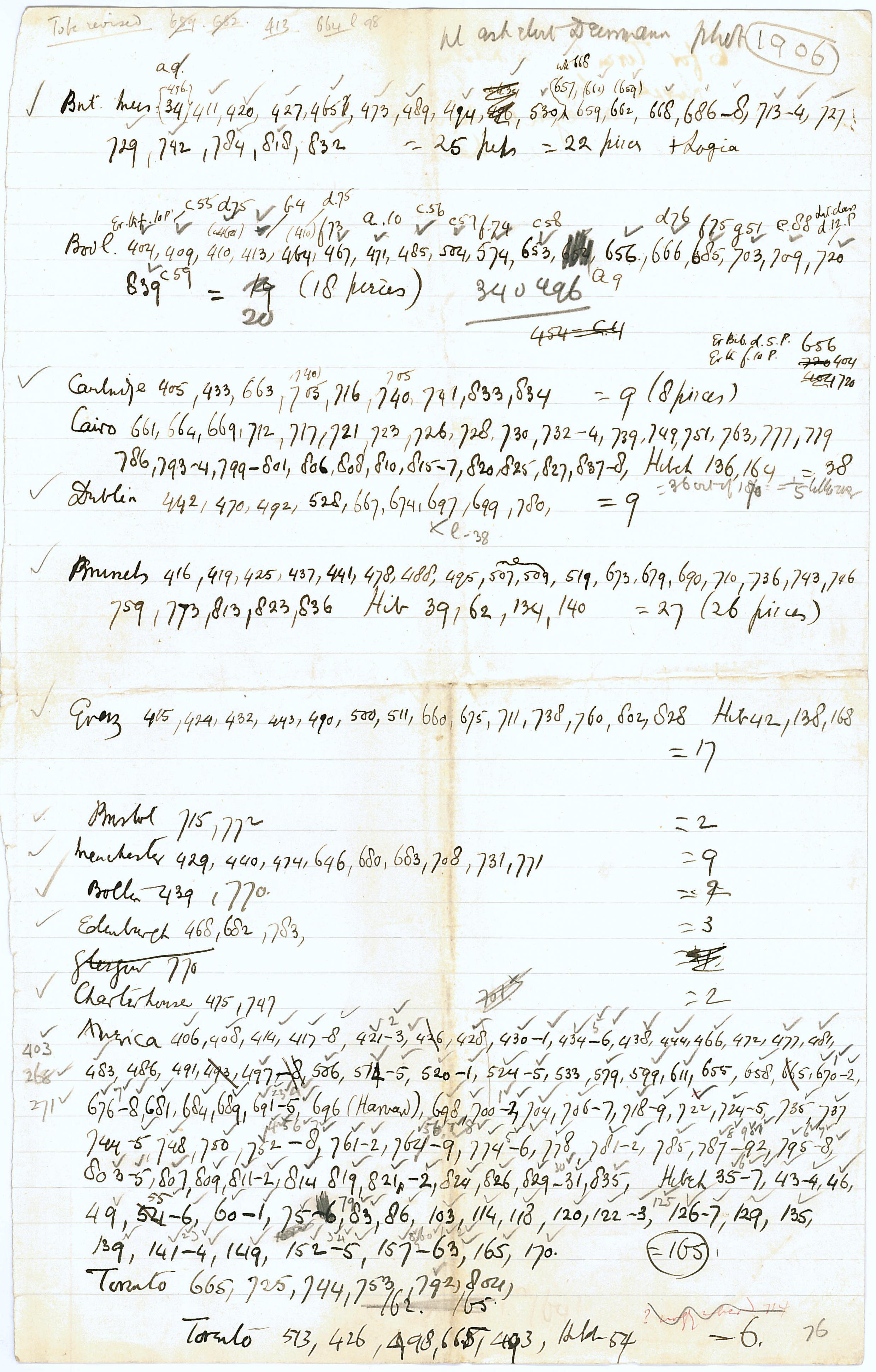 1905-06 Oxyrhynchus, el-Hibeh, Faiyum DIST.27.38e