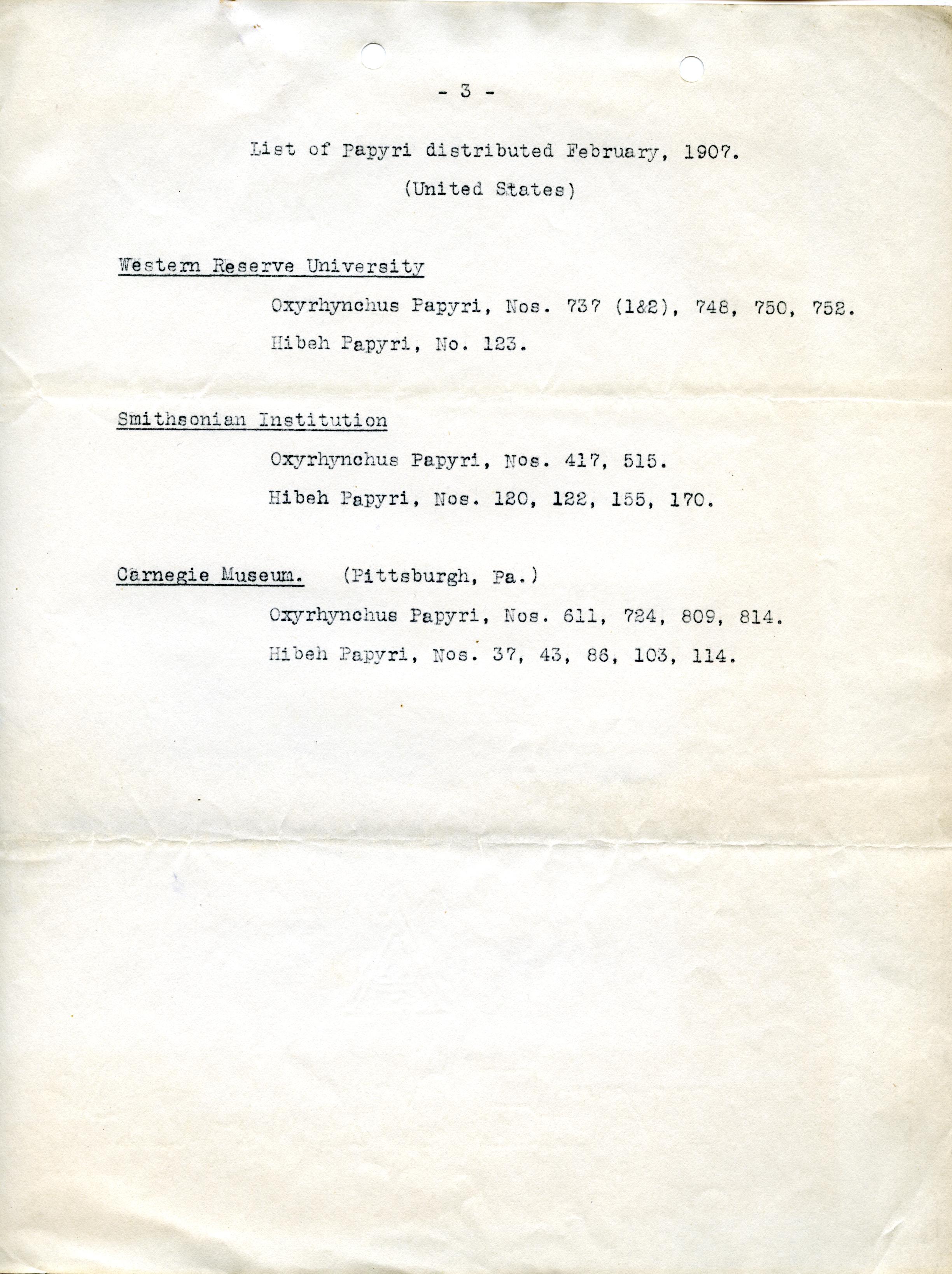 1905-06 Oxyrhynchus, el-Hibeh, Faiyum DIST.27.42d
