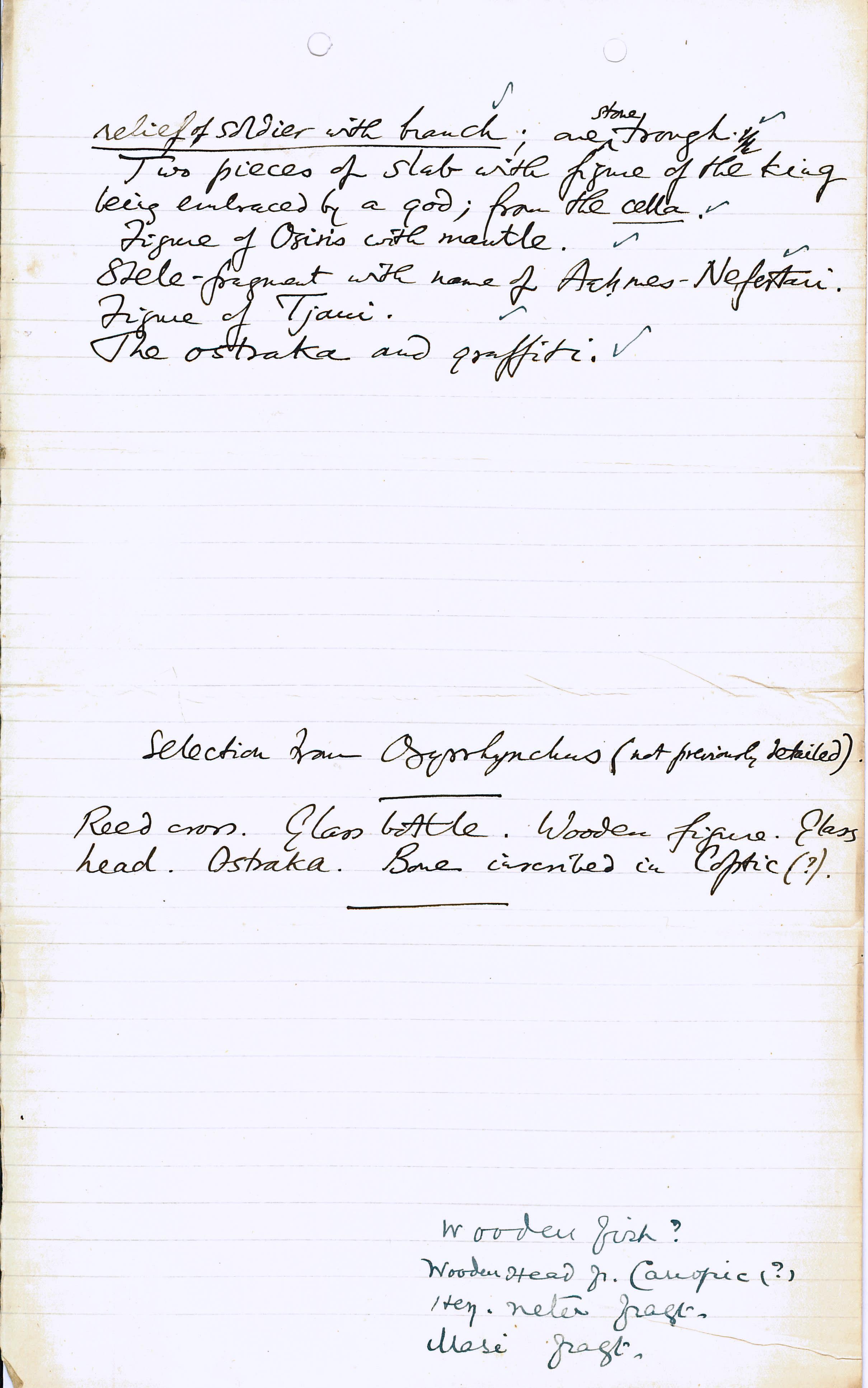 1906-07 Deir el-Bahri, Oxyrhynchus, Ihnasya DIST.28.02b