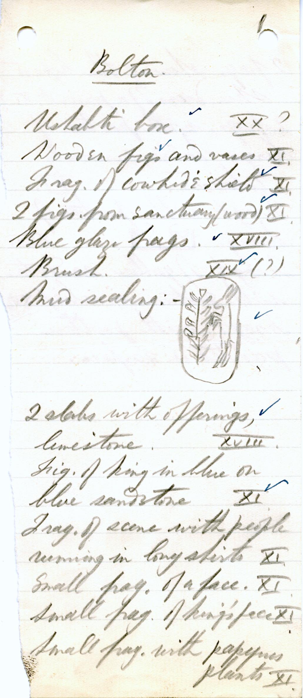 1906-07 Deir el-Bahri, Oxyrhynchus, Ihnasya DIST.28.03e