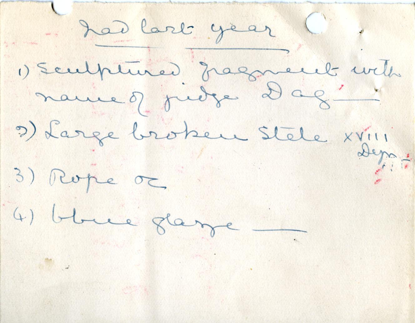 1906-07 Deir el-Bahri, Oxyrhynchus, Ihnasya DIST.28.04d