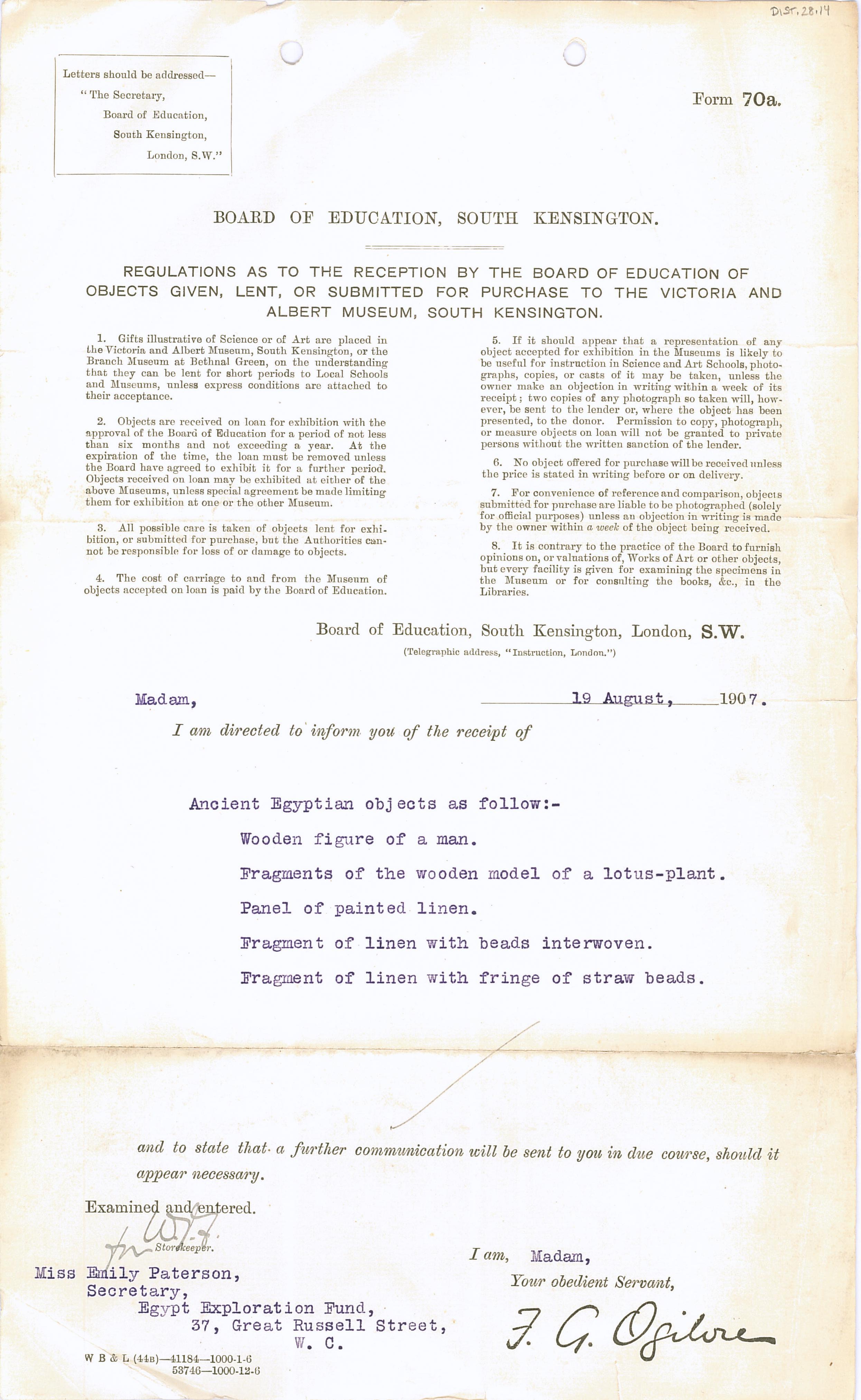 1906-07 Deir el-Bahri, Oxyrhynchus, Ihnasya DIST.28.14
