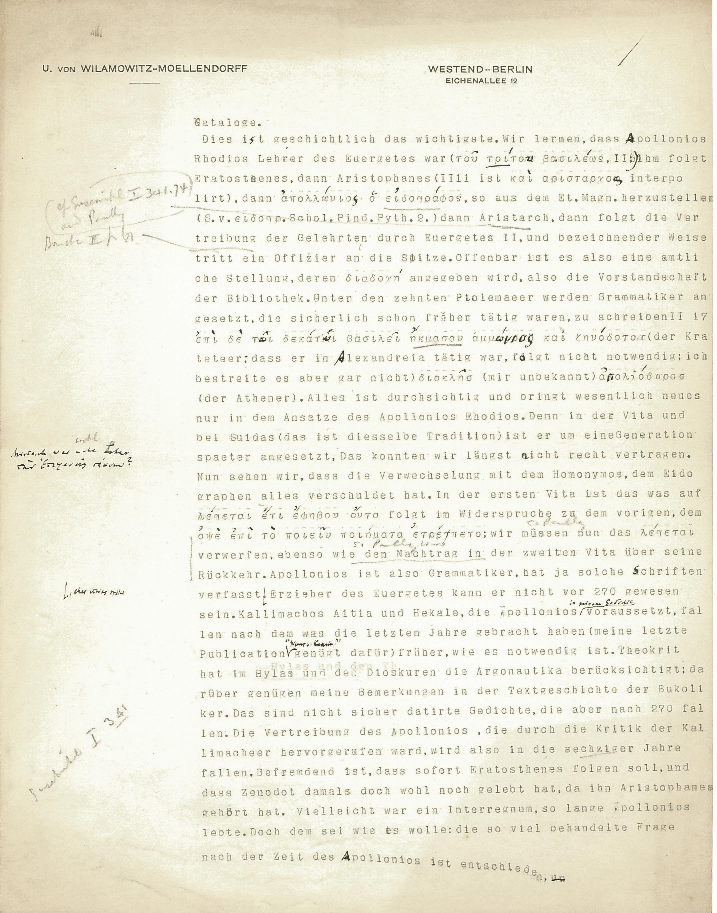 1908-09 A.S. Hunt, letters re papyri from continental scholars DIST.30.17b