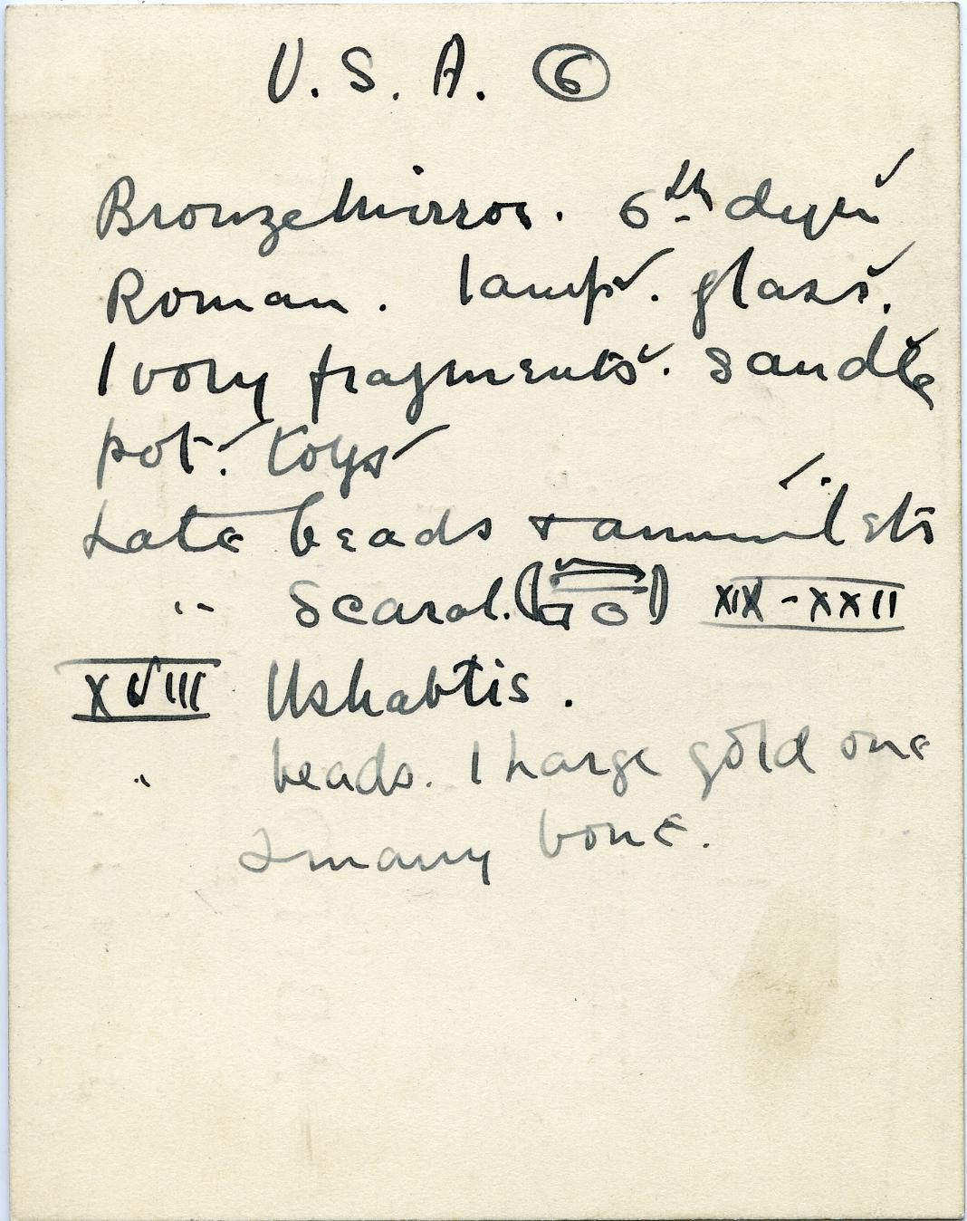 1909-10 Abydos, Sedment, Gahmut, Ihnasya DIST.31.08o