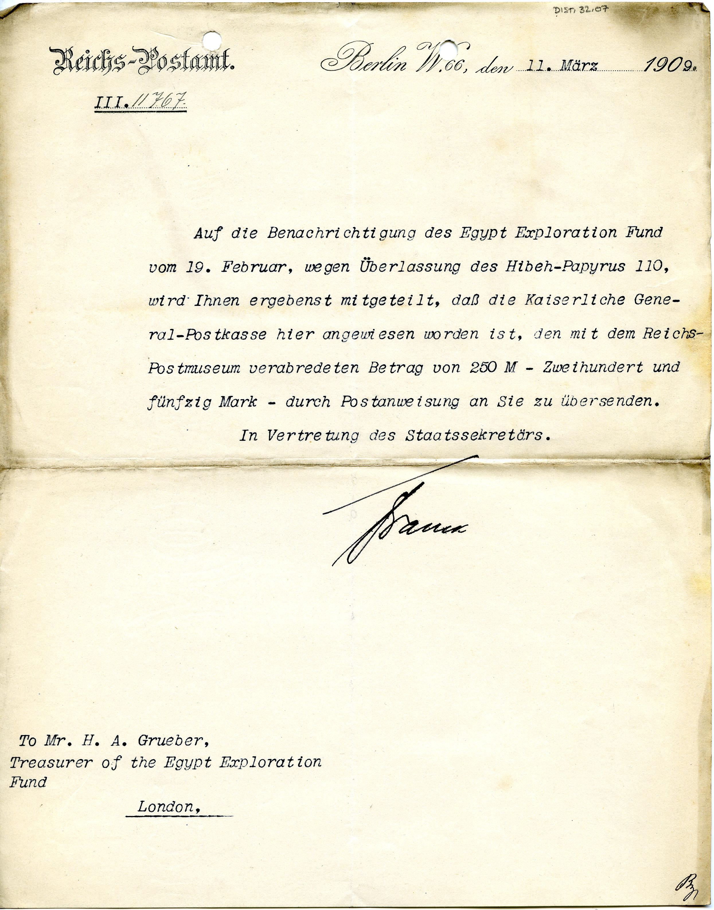 1908-13 Papyri DIST.32.07