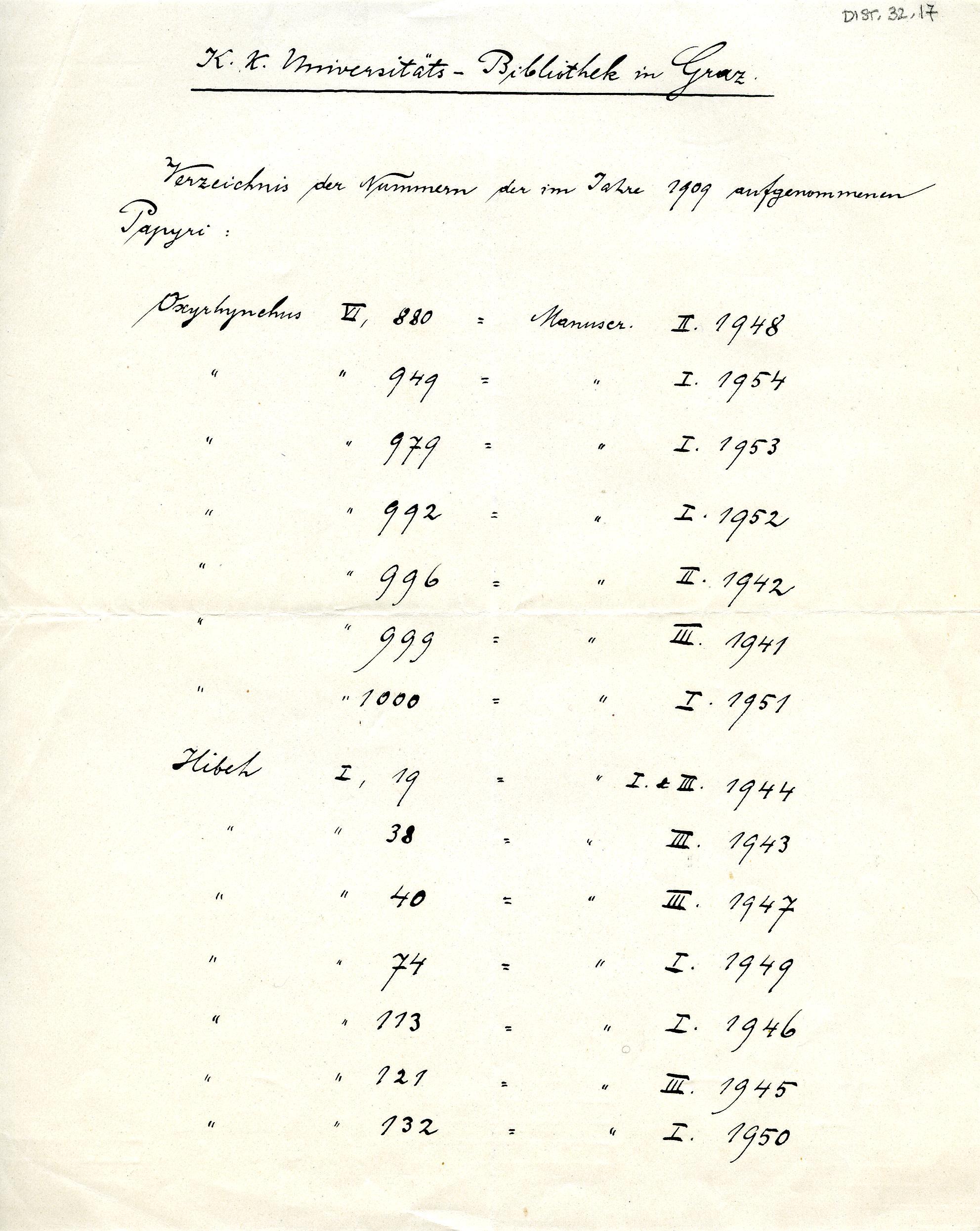 1908-13 Papyri DIST.32.17