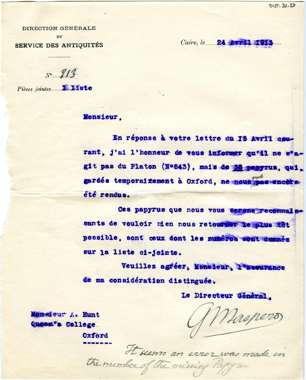 1908-13 Papyri DIST.32.27a